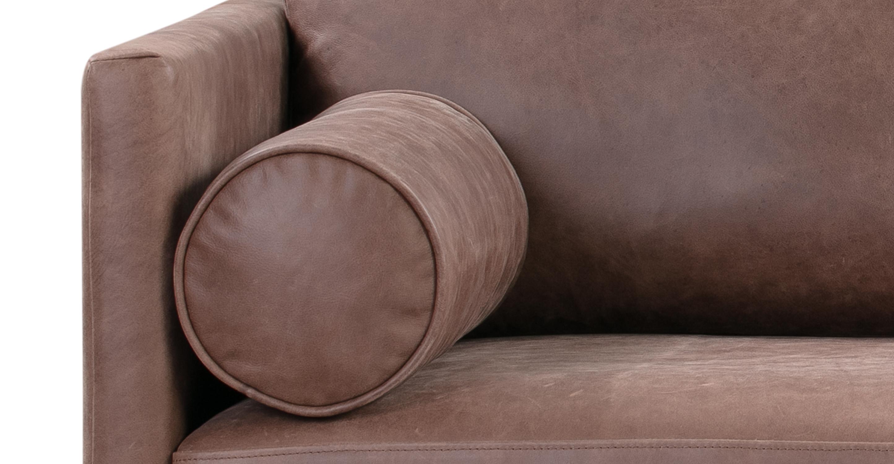 "Spectre 81"" Leather Sofa, Mocha Top Grain Full Aniline"
