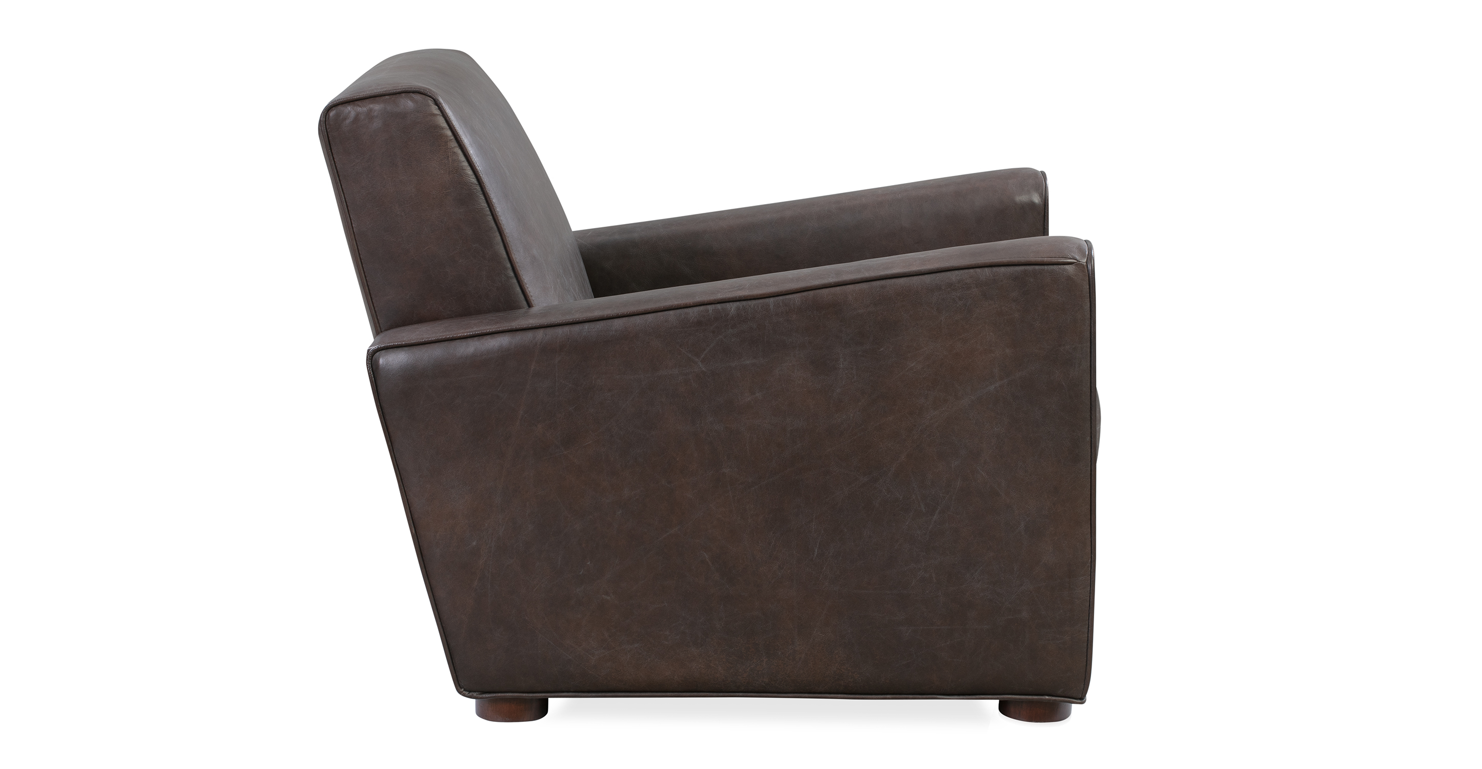 "Maxwell 35"" Leather Chair, Brown Top Grain Semi Aniline"