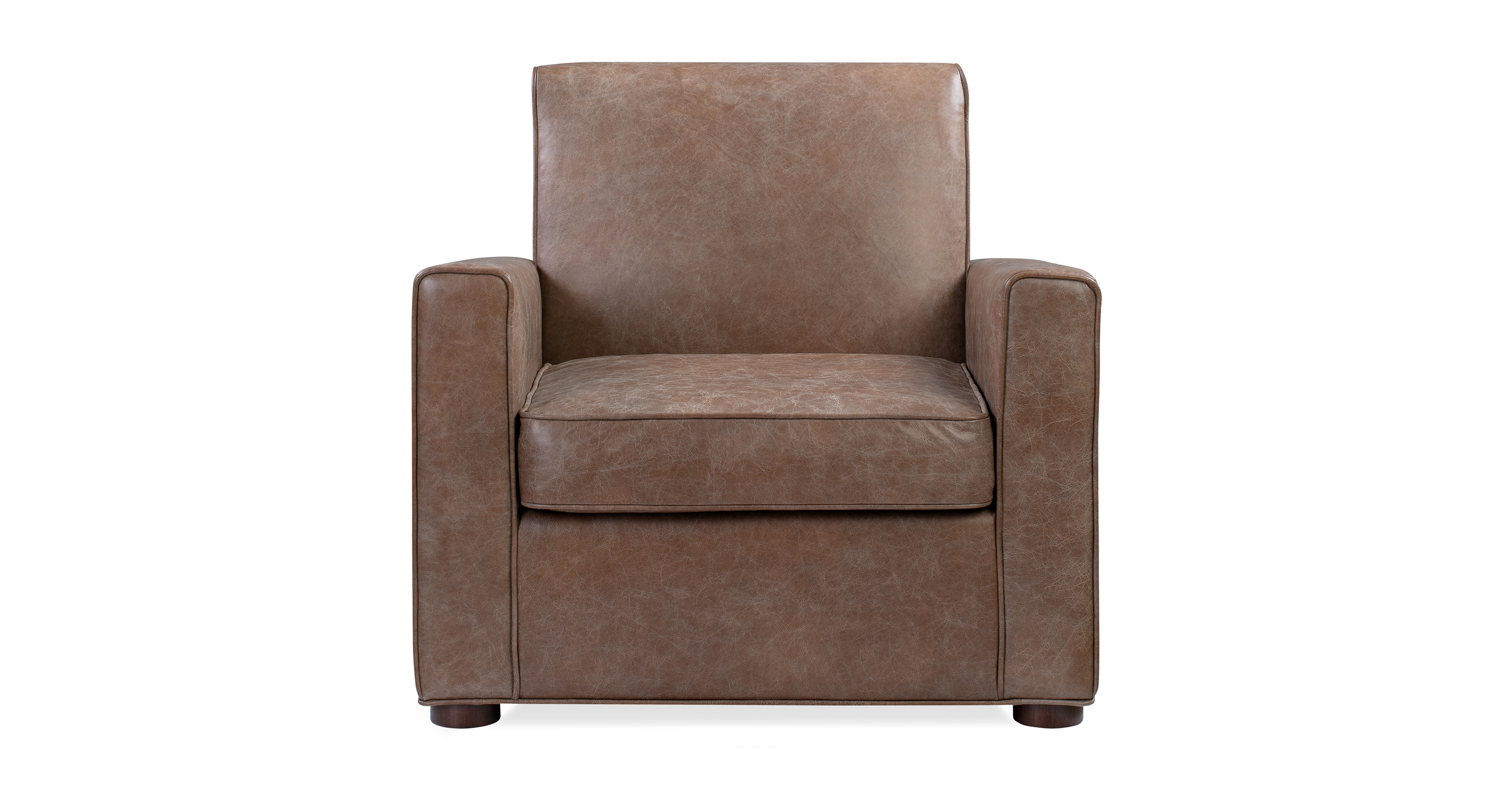 "Maxwell 34"" Leather Chair, Napoli Tan"
