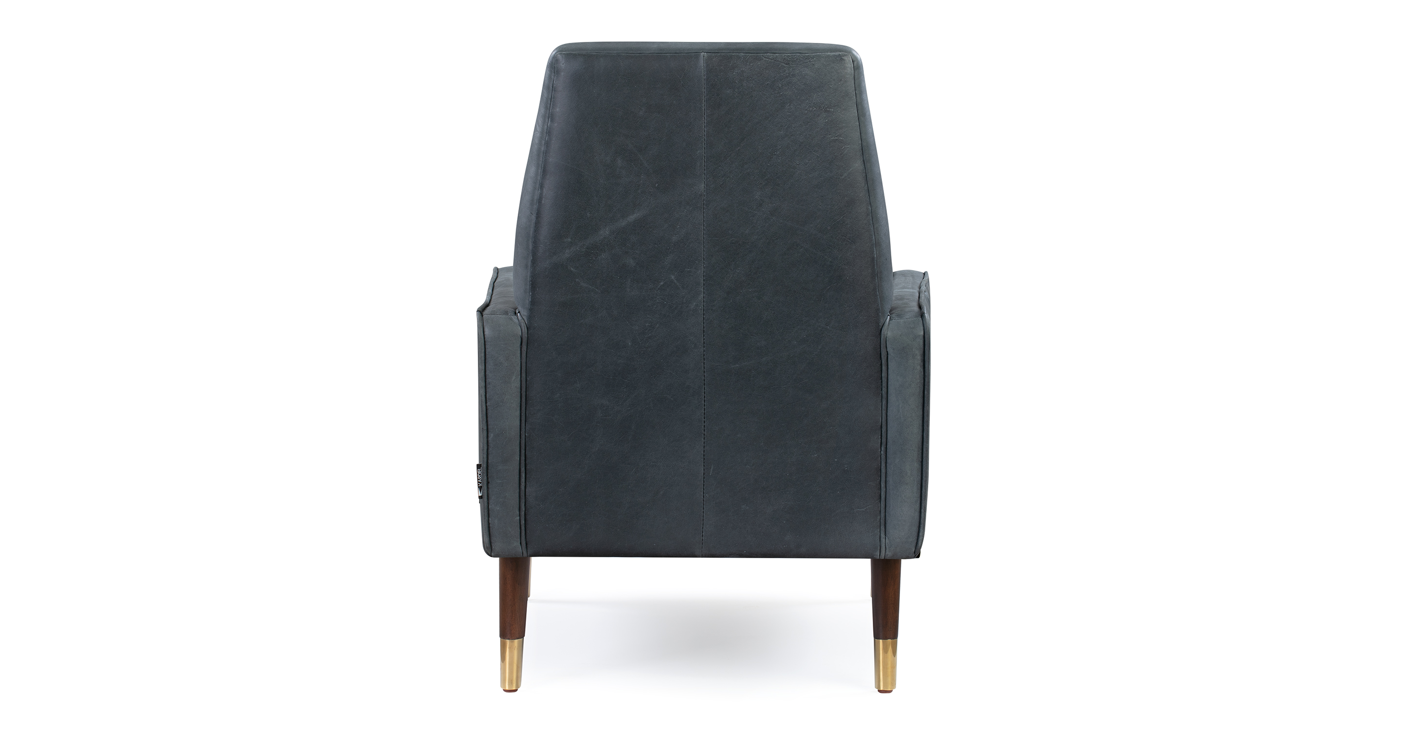 "Draper 27"" Leather Chair, Black Top Grain Full Aniline"