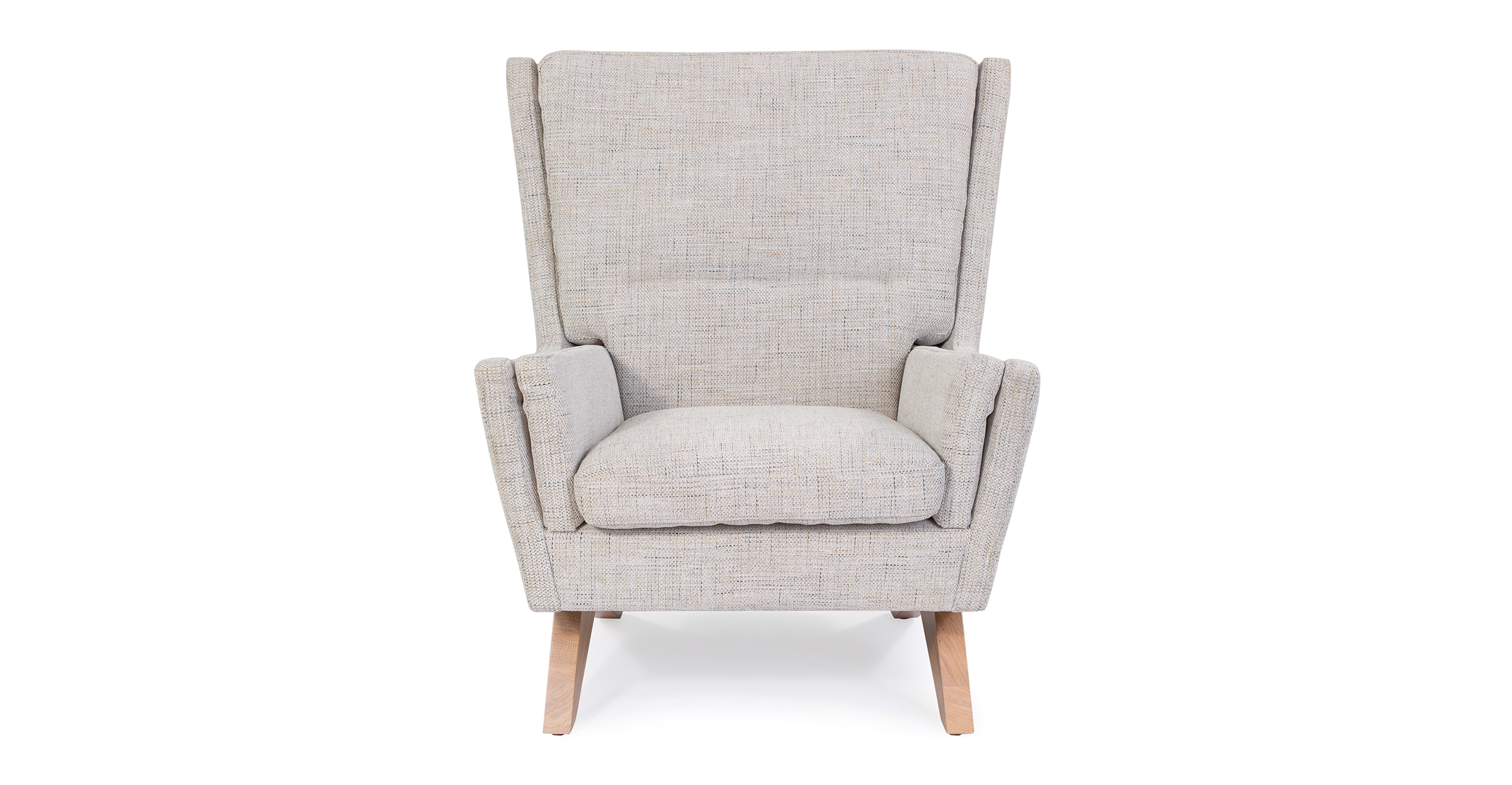 "Brasilia 30"" Fabric Chair, Hessian Flecked"