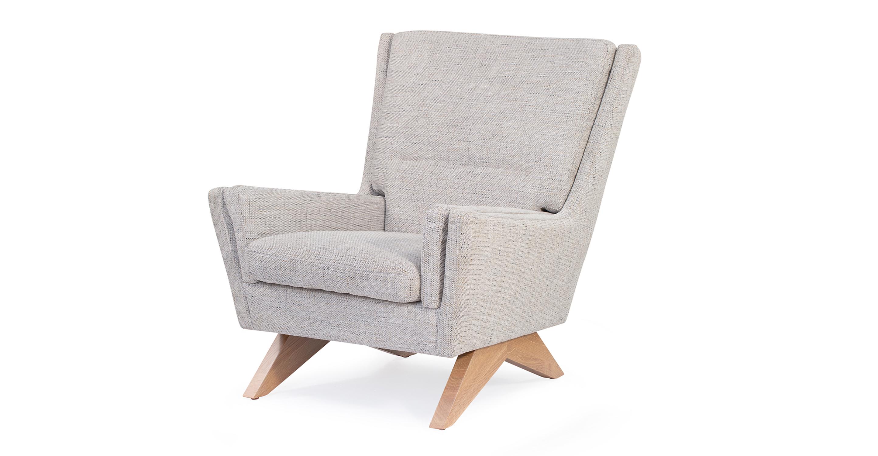 "Brasilia 30"" Fabric Chair, Hessian"