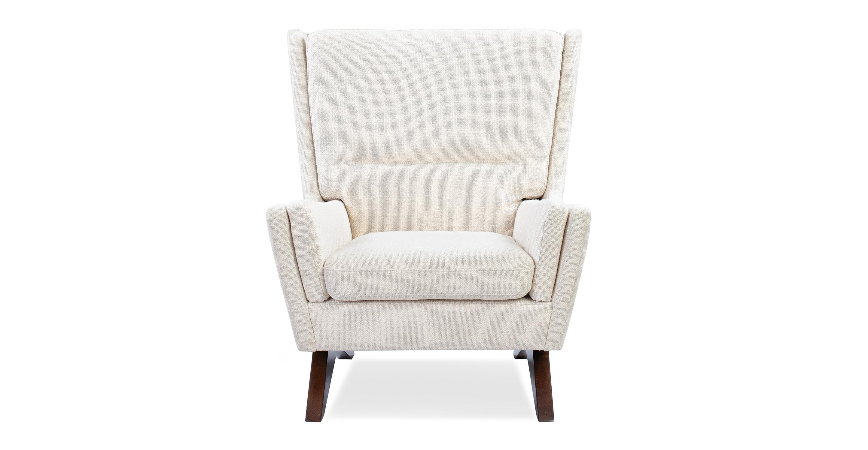 "Brasilia 30"" Fabric Chair, Pearl"