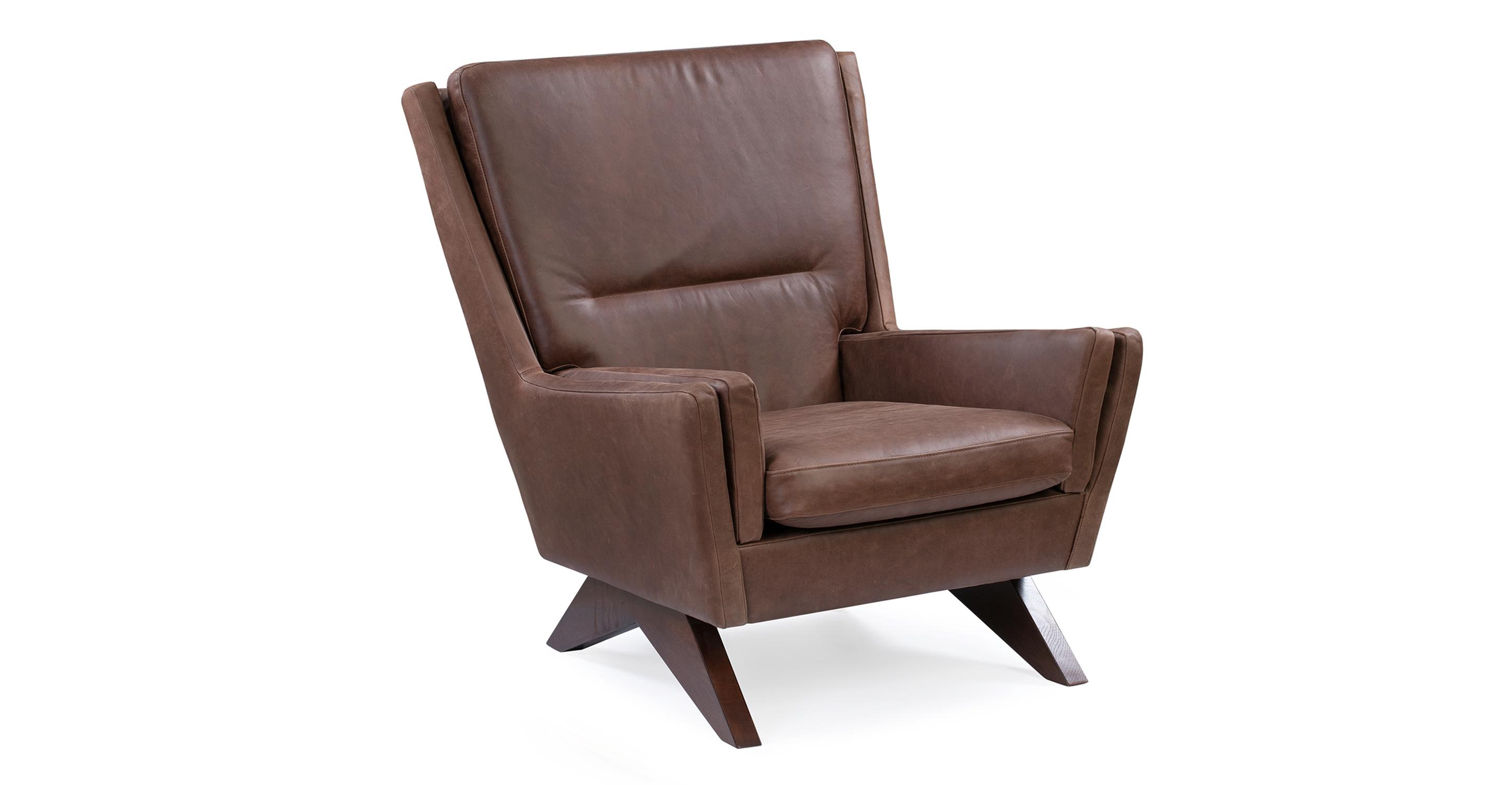 "Brasilia 30"" Leather Chair, Milano Mocha"