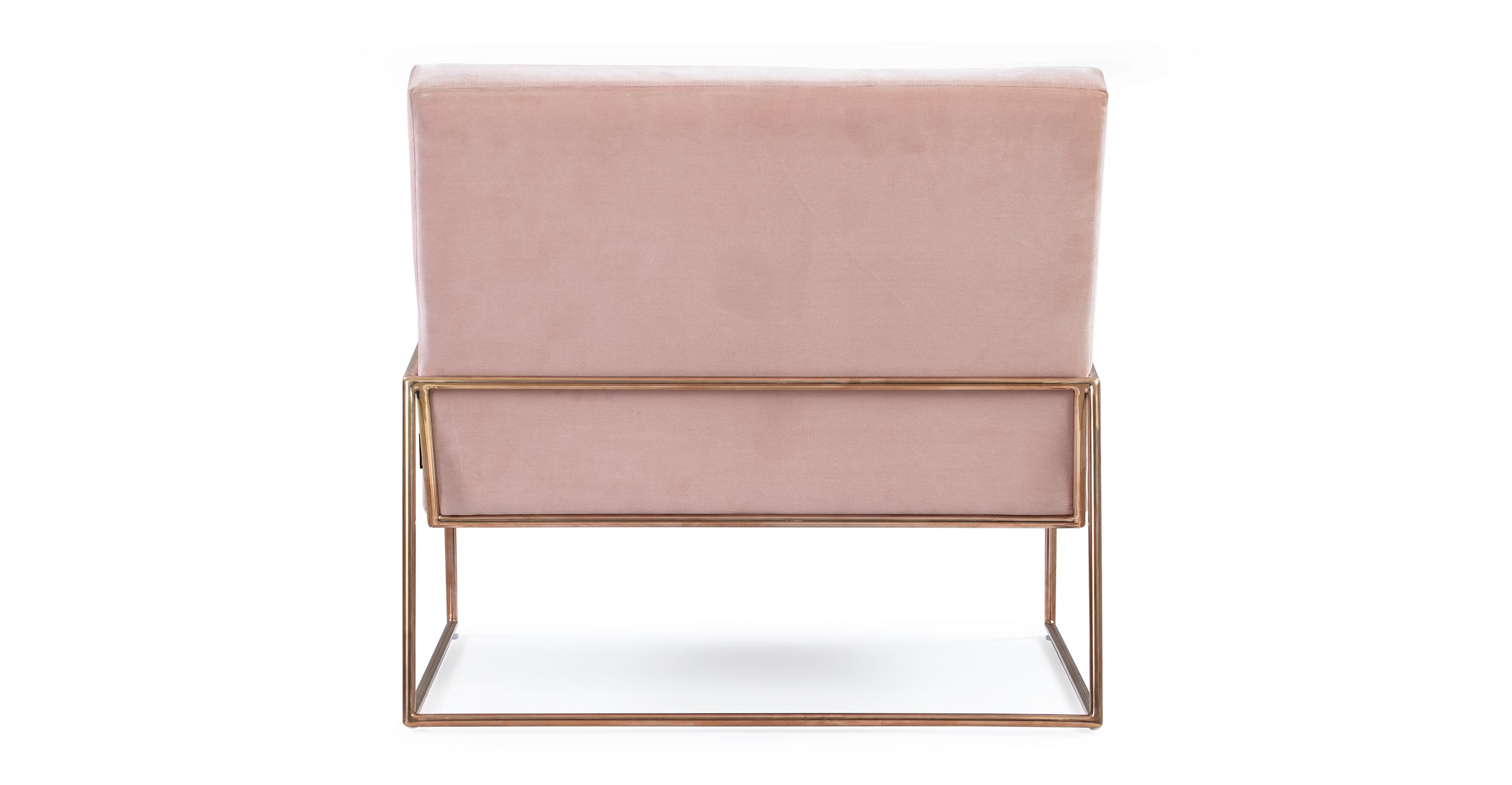 """Suspend 33"""" Fabric Chair, Rose Velvet"""