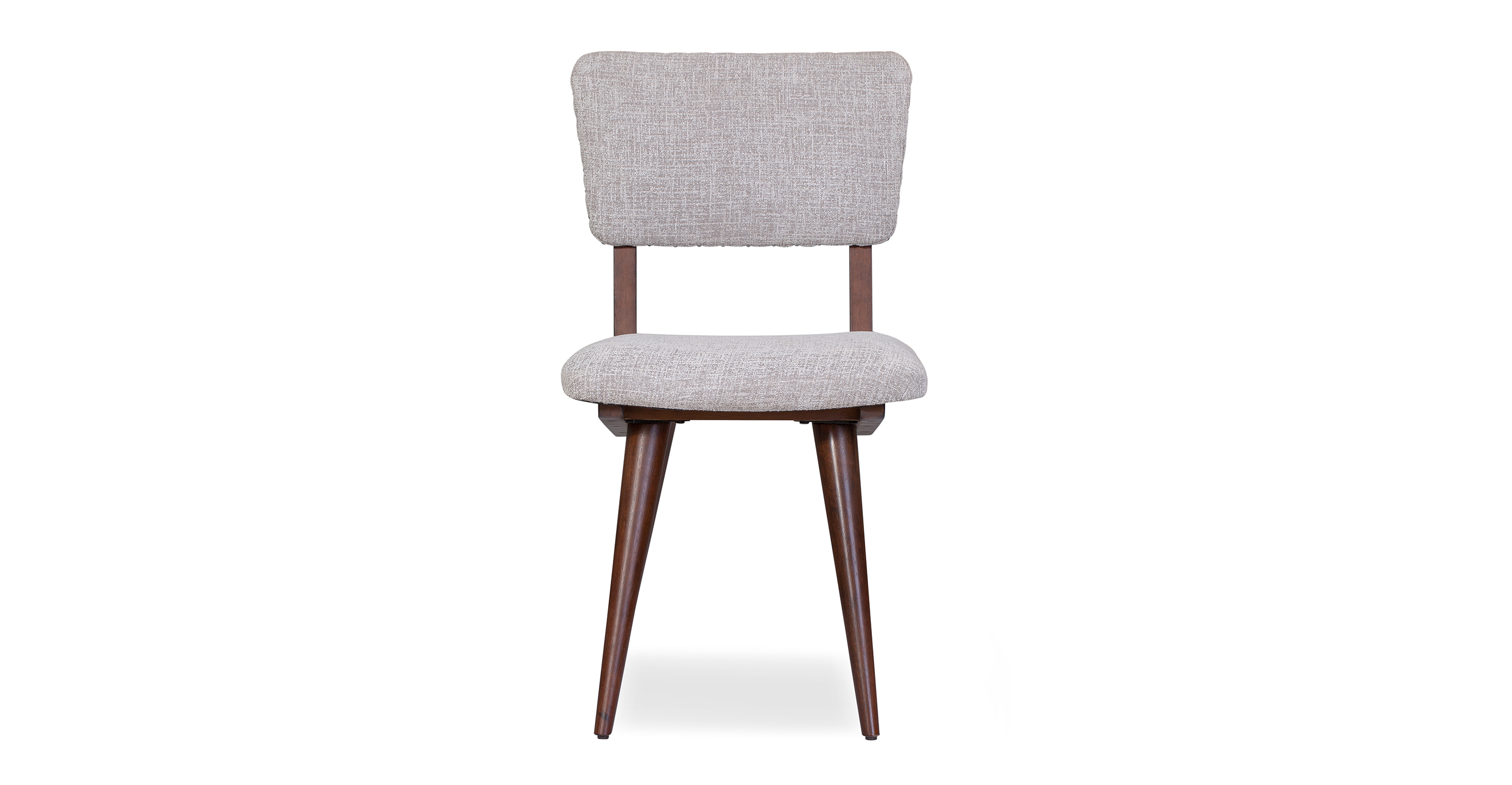 """Boomer 19"""" 2-Pc Set Fabric Dining Chair, Chenille Taupe"""
