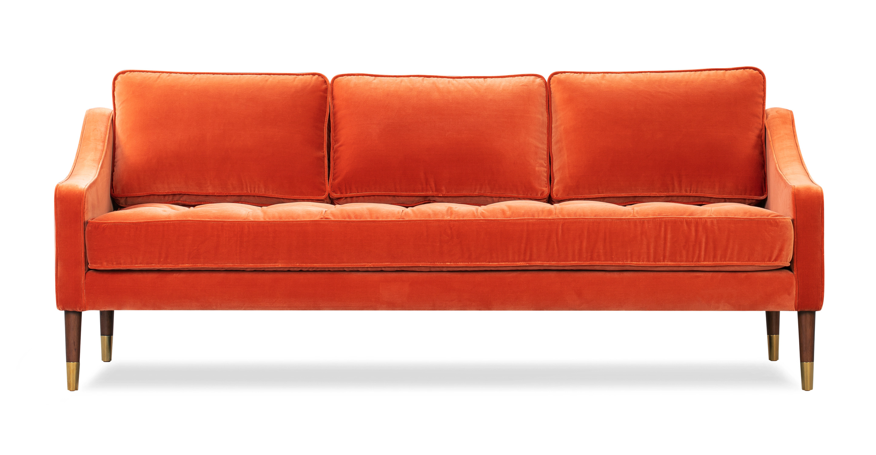 "Brando 74"" Fabric Sofa, Romance Velvet"