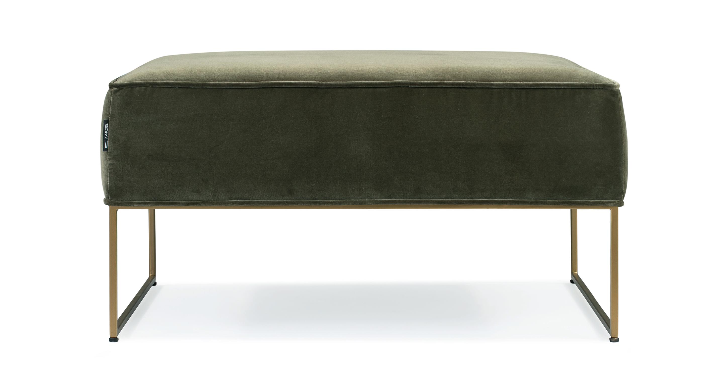 "Bumper 33"" Fabric Ottoman, Cypress  Velvet"