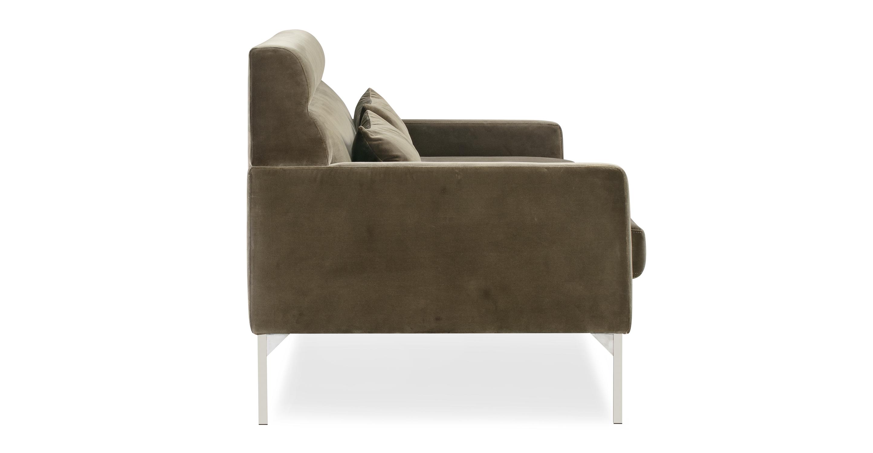 "Churchill 74"" Fabric Sofa, Cypress Velvet"