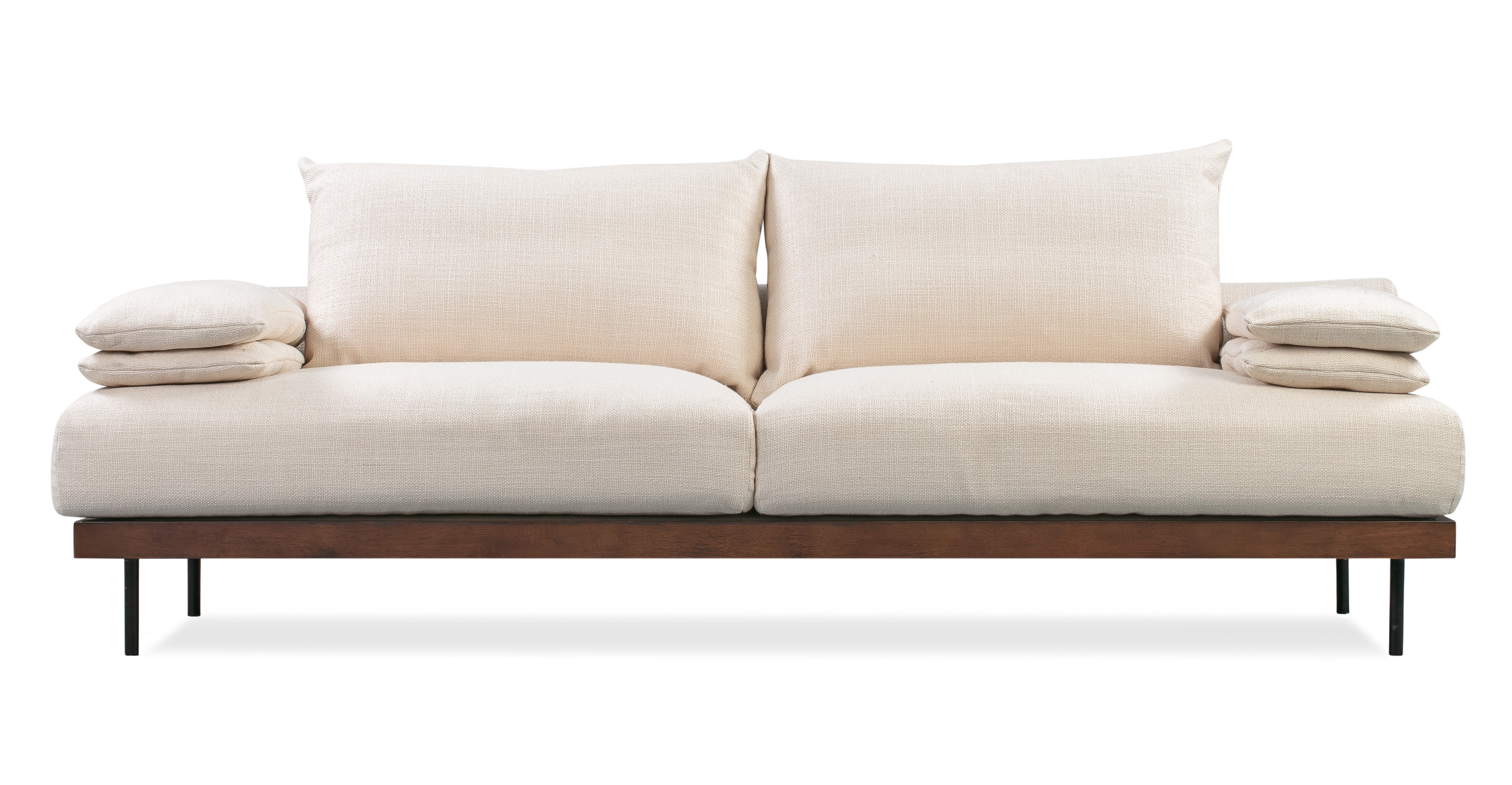 "Malibu 91"" Fabric Sofa Sleeper, Pearl"