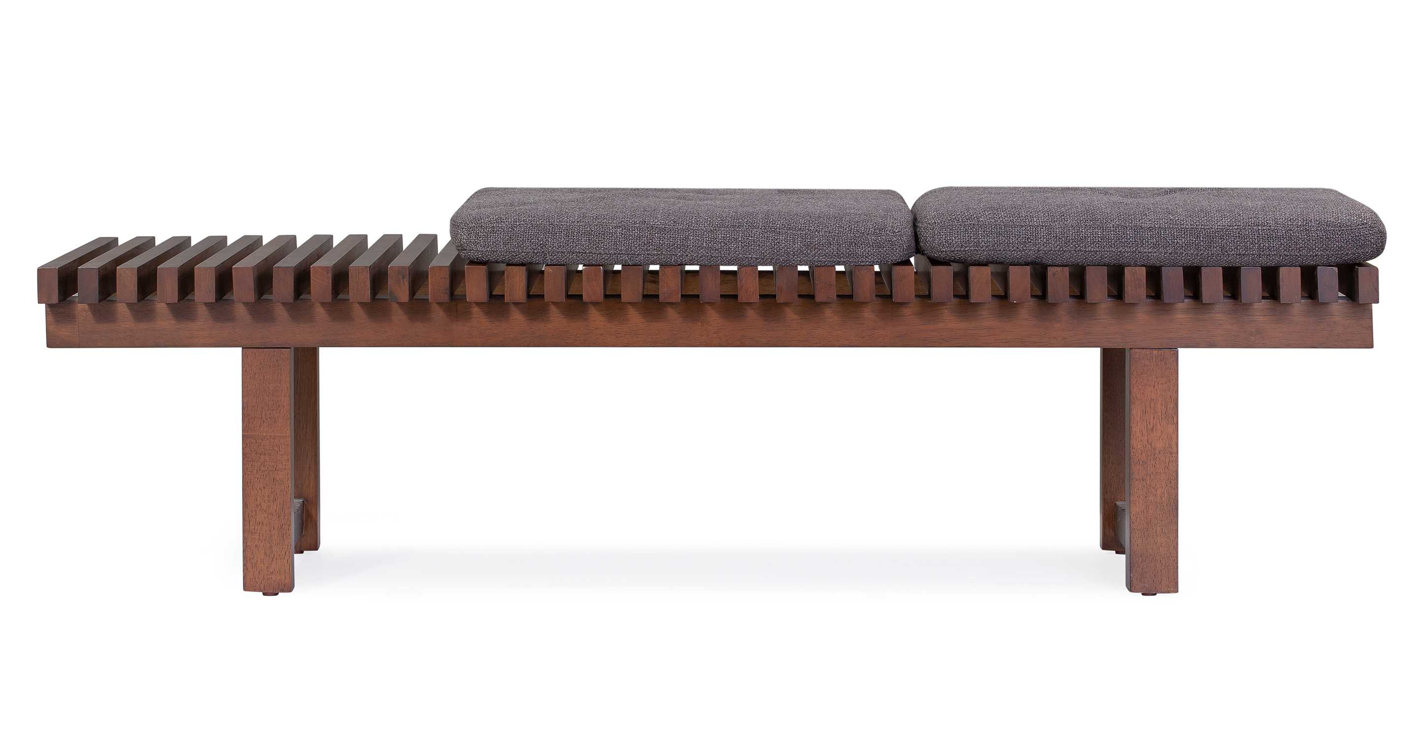 "Slat 42"" Fabric Bench, Dior"
