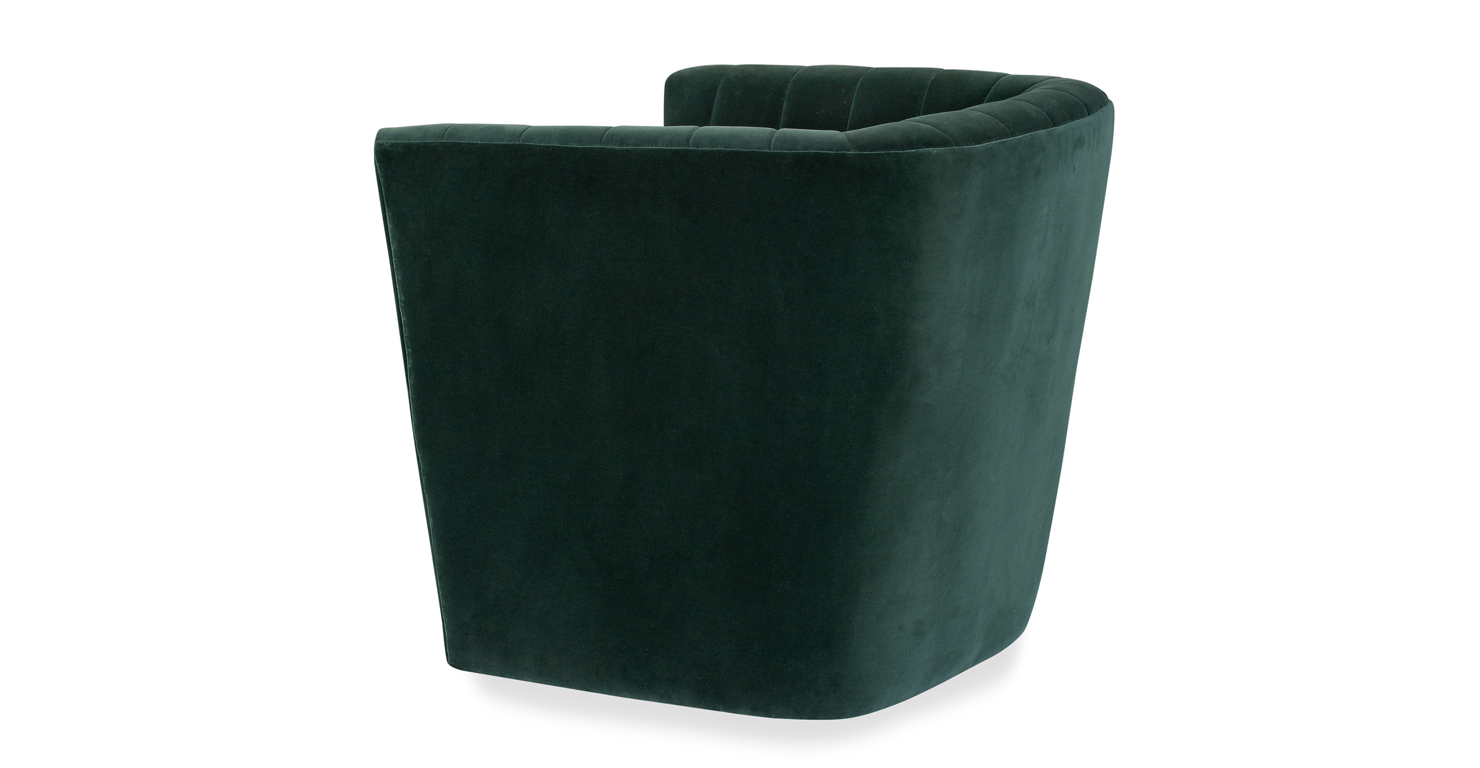 "Tubby 30"" Fabric Chair, Emerald Velvet"