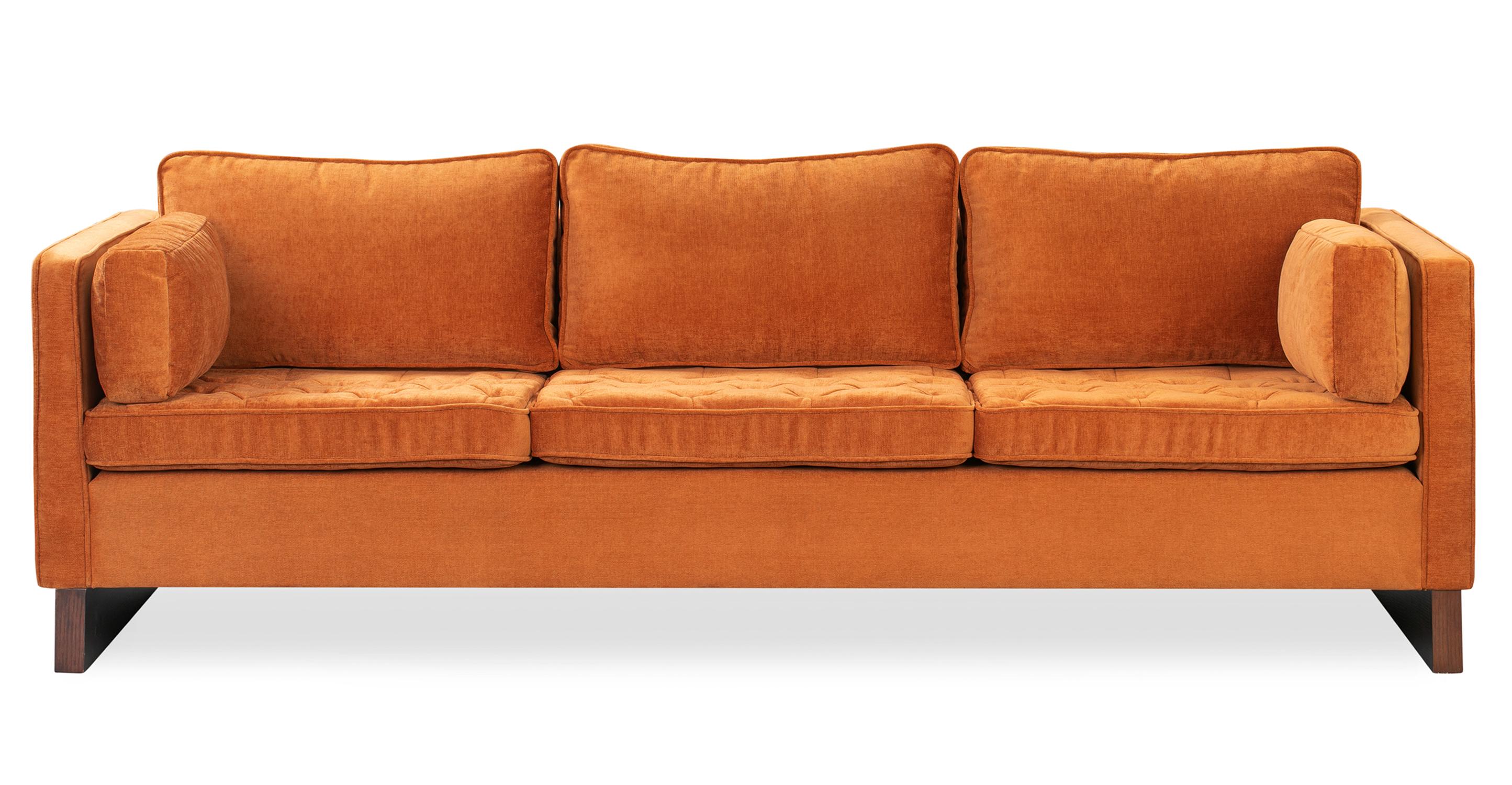 """Wexler 87"""" Fabric Sofa, Ginger Velvet"""