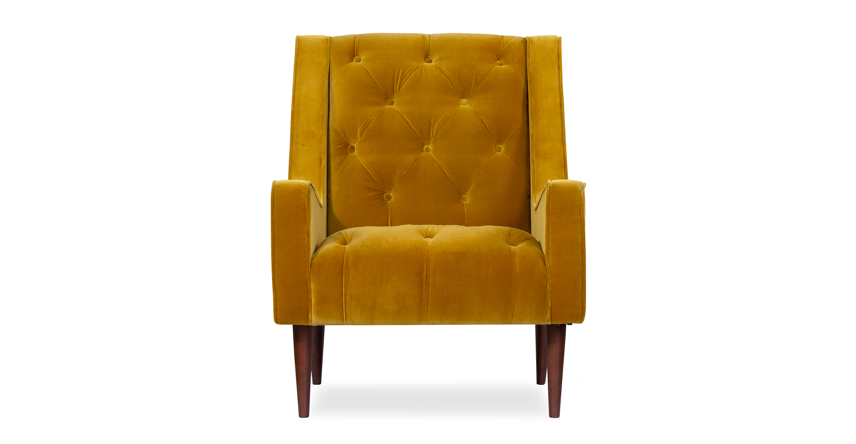 """Krisel 27"""" Fabric Chair, Glimmer Velvet"""