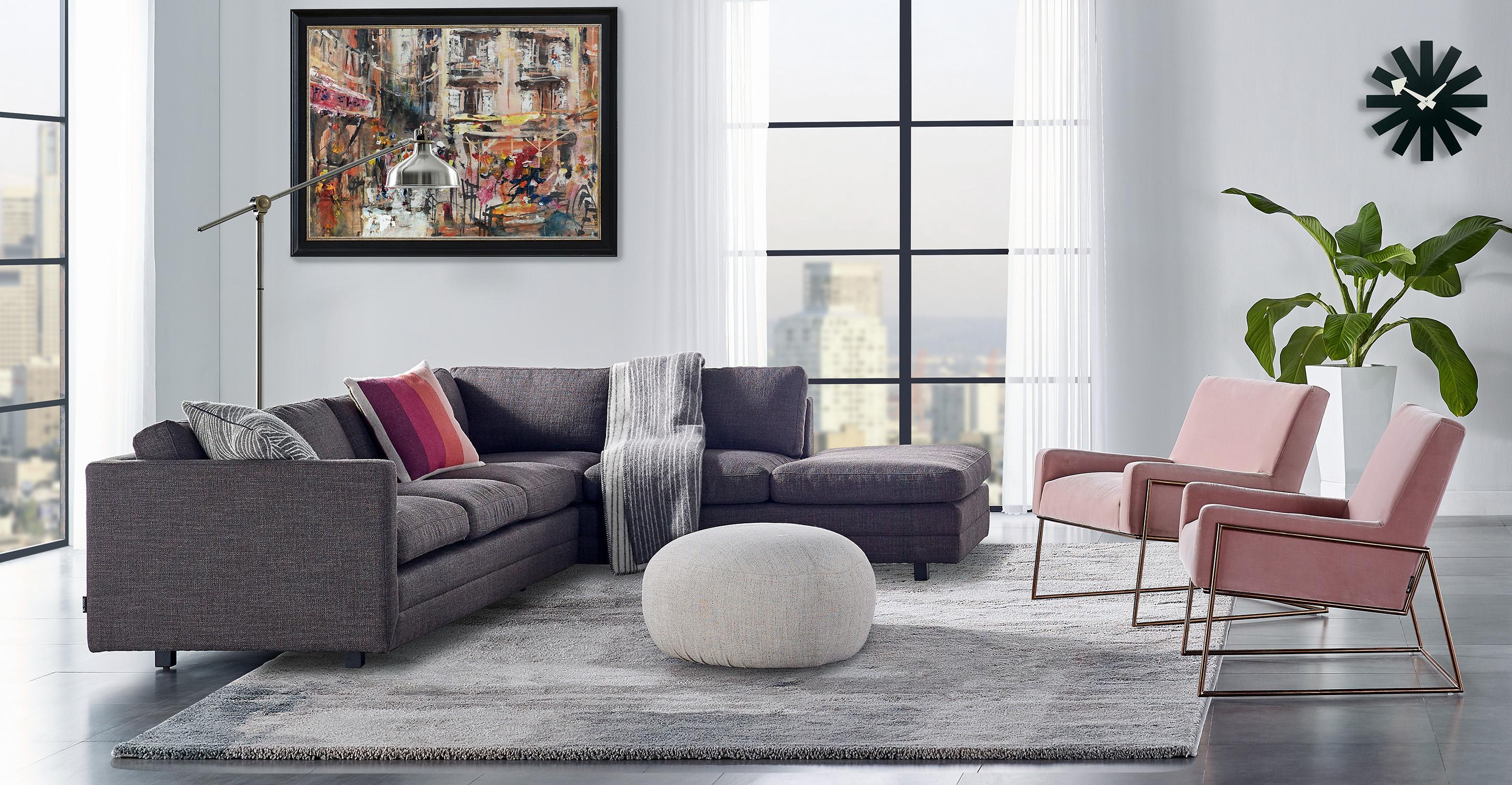 "Manhattan 91"" Fabric Sectional, Dior"