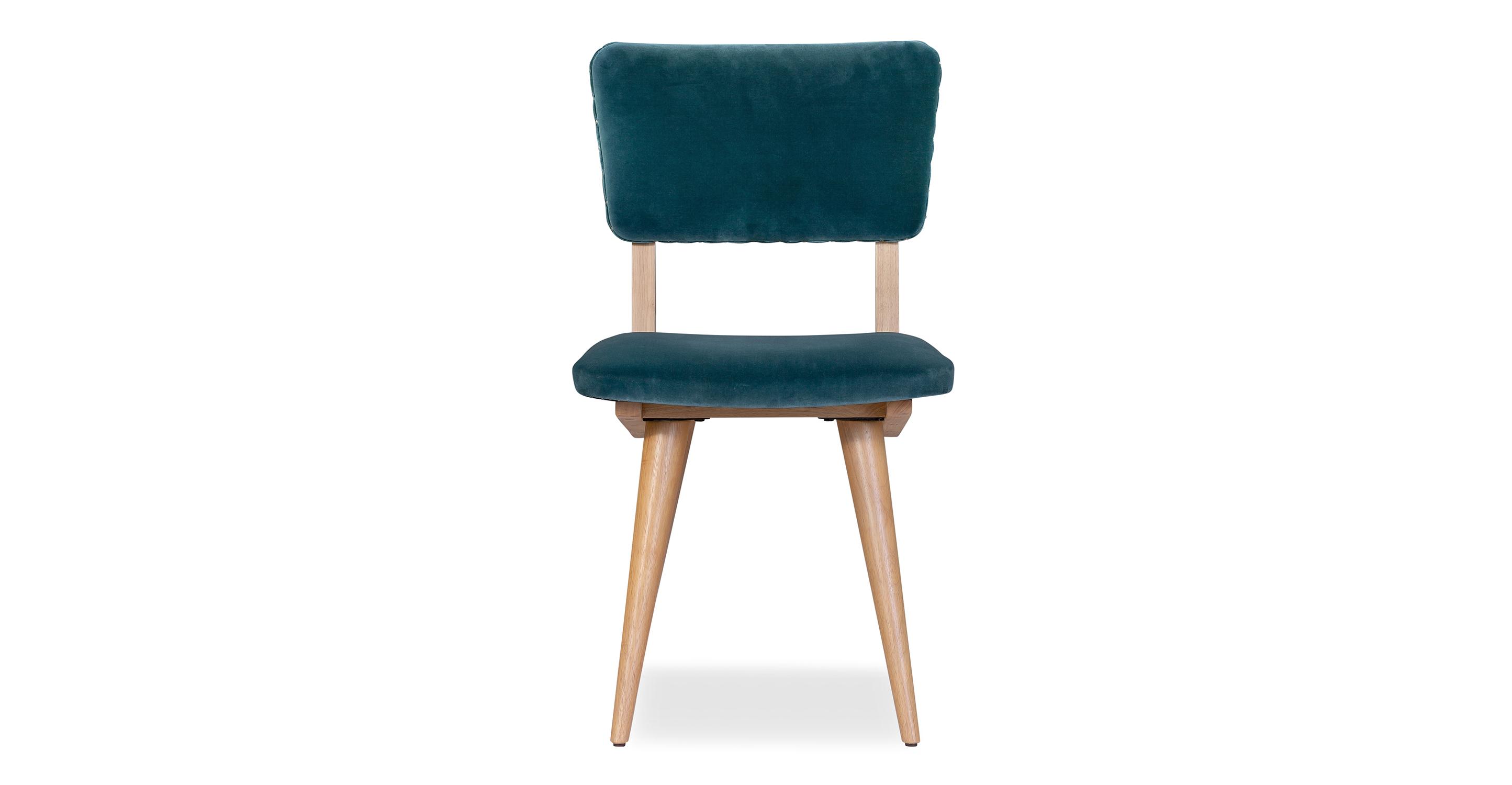 "Boomer 19"" 2-Pc Set Fabric Dining Chair, Tranquil Velvet"