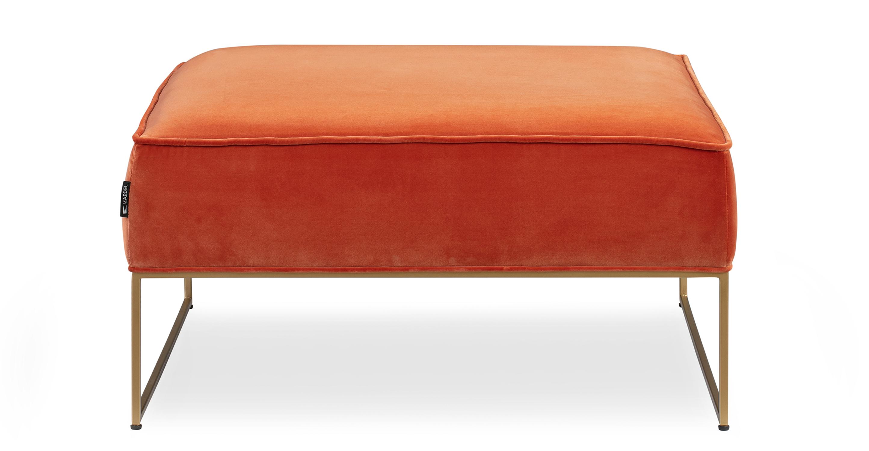 "Bumper 33"" Fabric Ottoman, Romance Velvet"