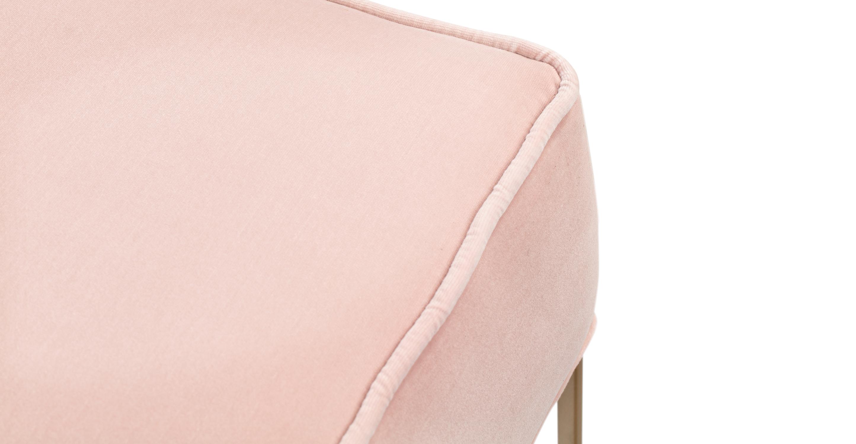 Bumper Fabric Ottoman, Rose Velvet