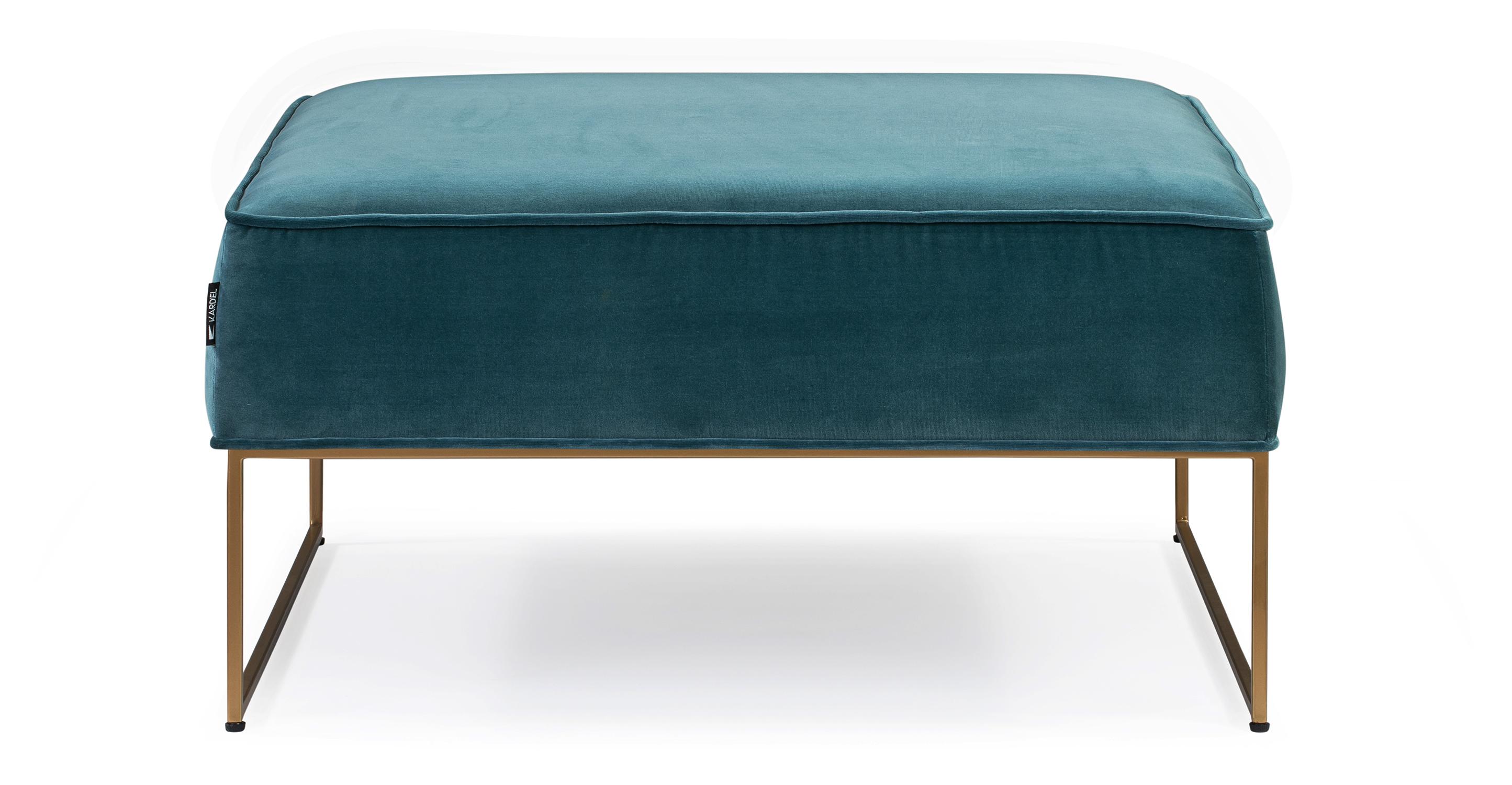 "Bumper 33"" Fabric Ottoman, Tranquil Velvet"