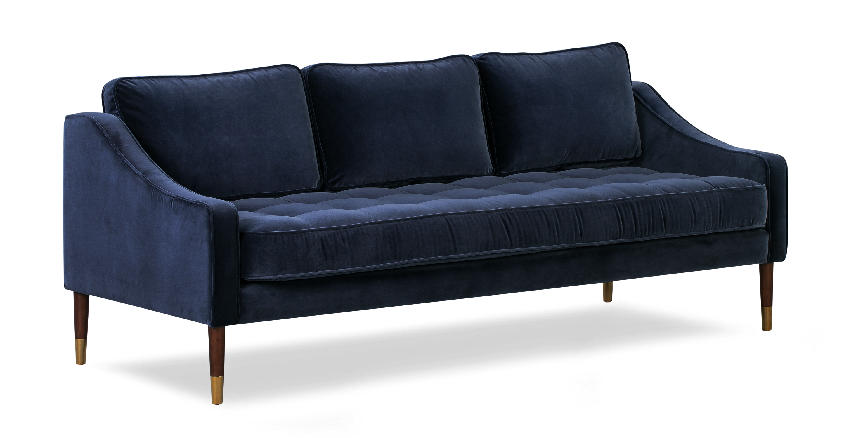 "Brando 74"" Fabric Sofa, Admiral Velvet"