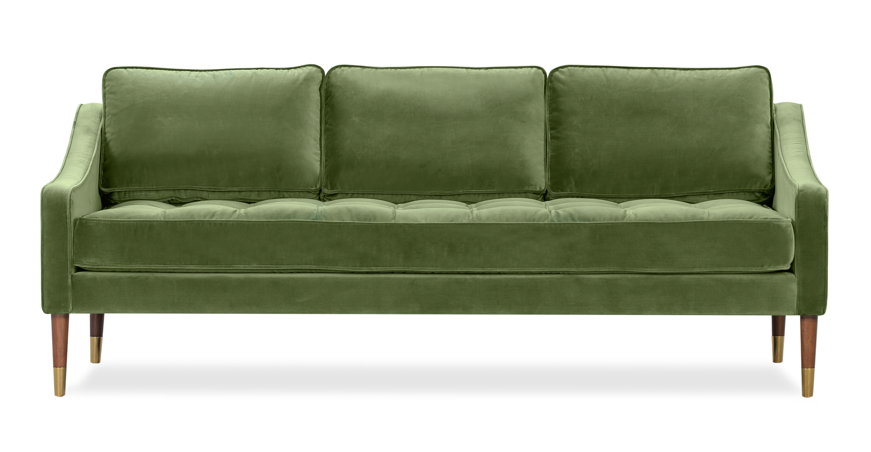 "Brando 74"" Fabric Sofa, Grass Velvet"