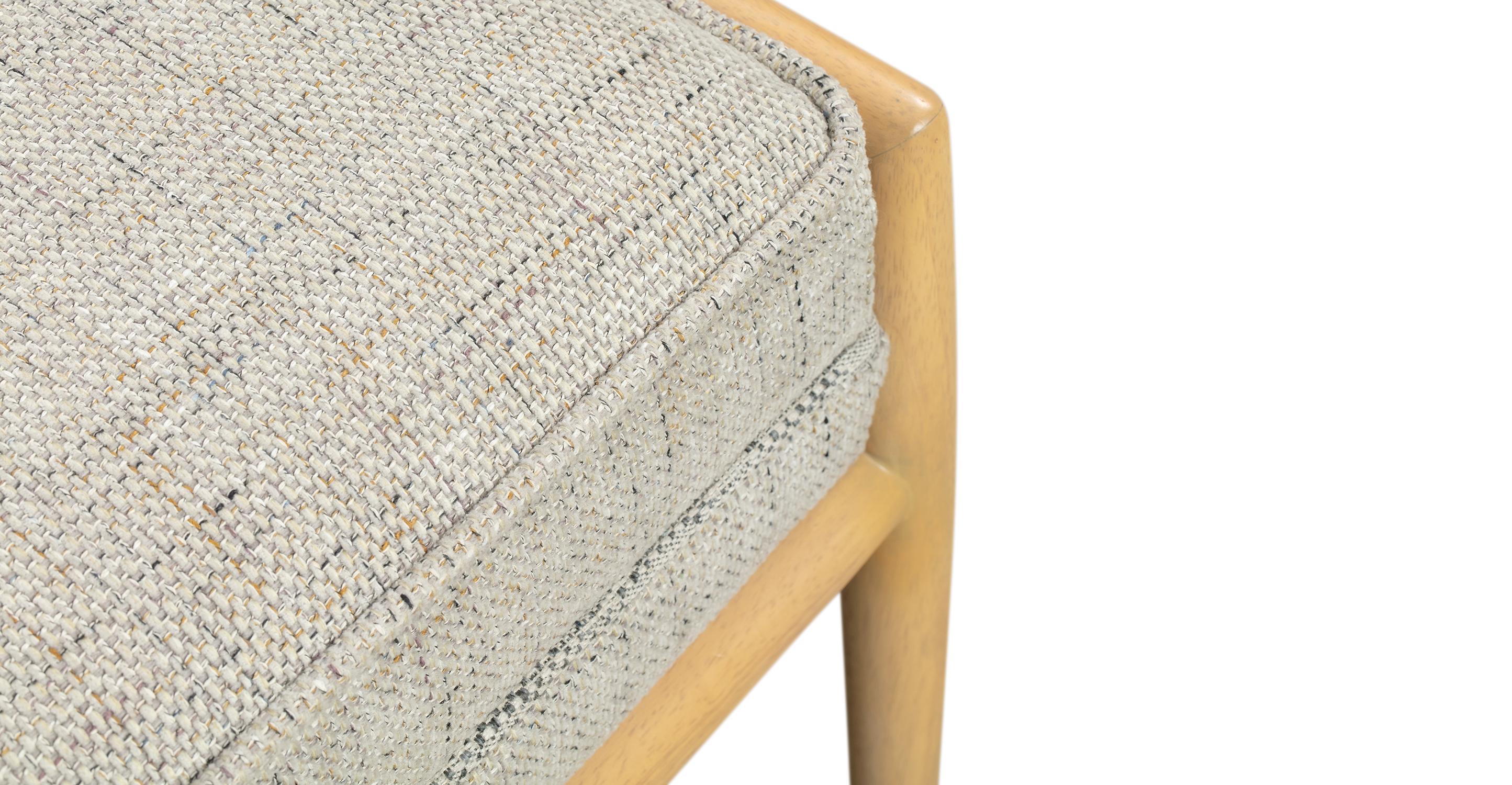 "Fritz 55"" Fabric Bench, Hessian"