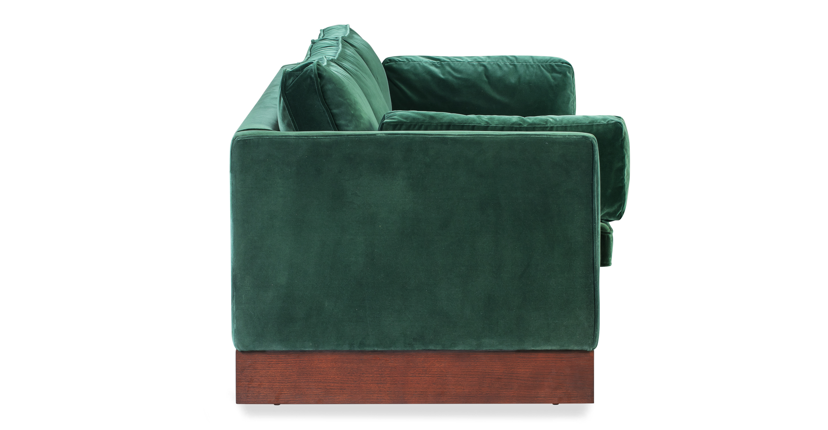 "Wexler 87"" Fabric Sofa, Emerald Velvet"