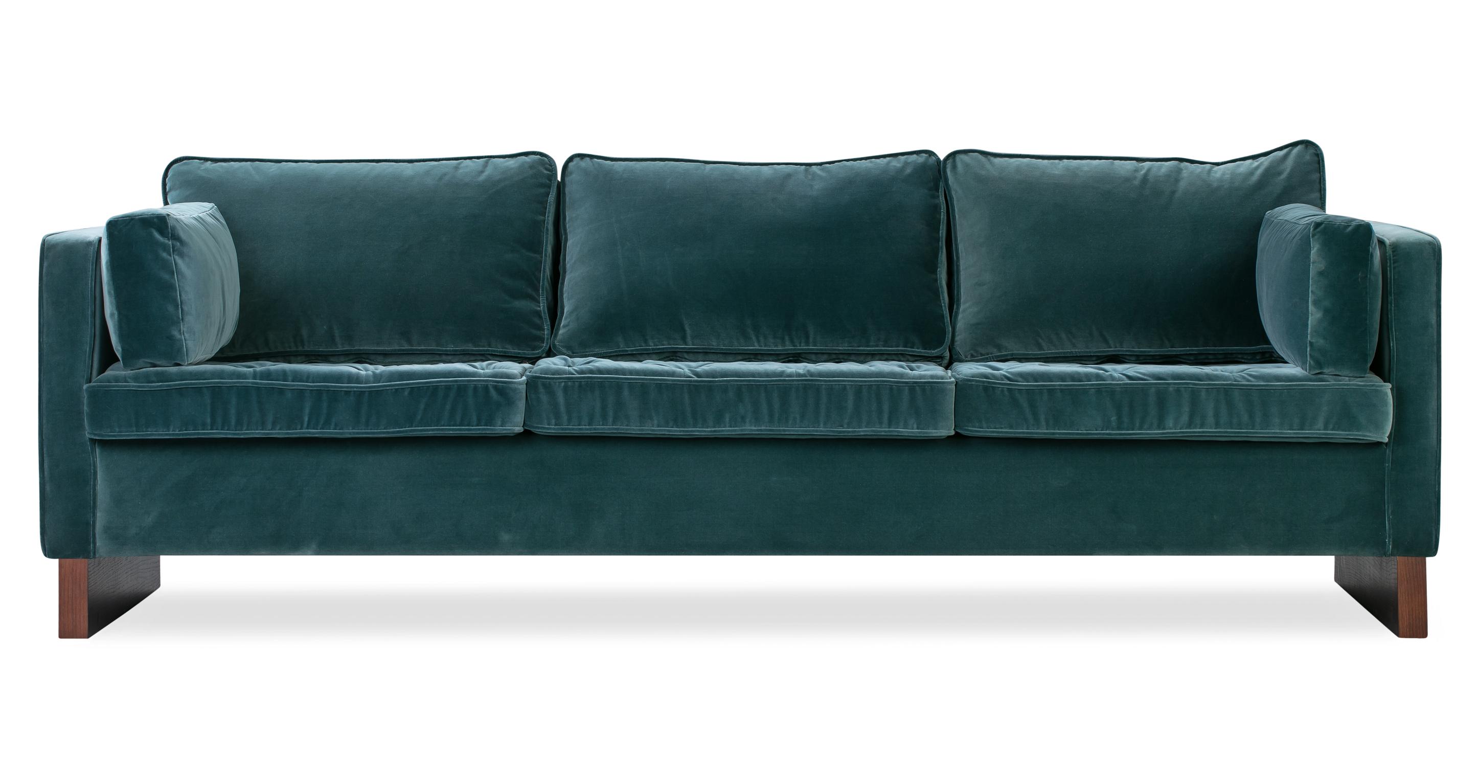 """Wexler 88"""" Fabric Sofa, Tranquil Velvet"""