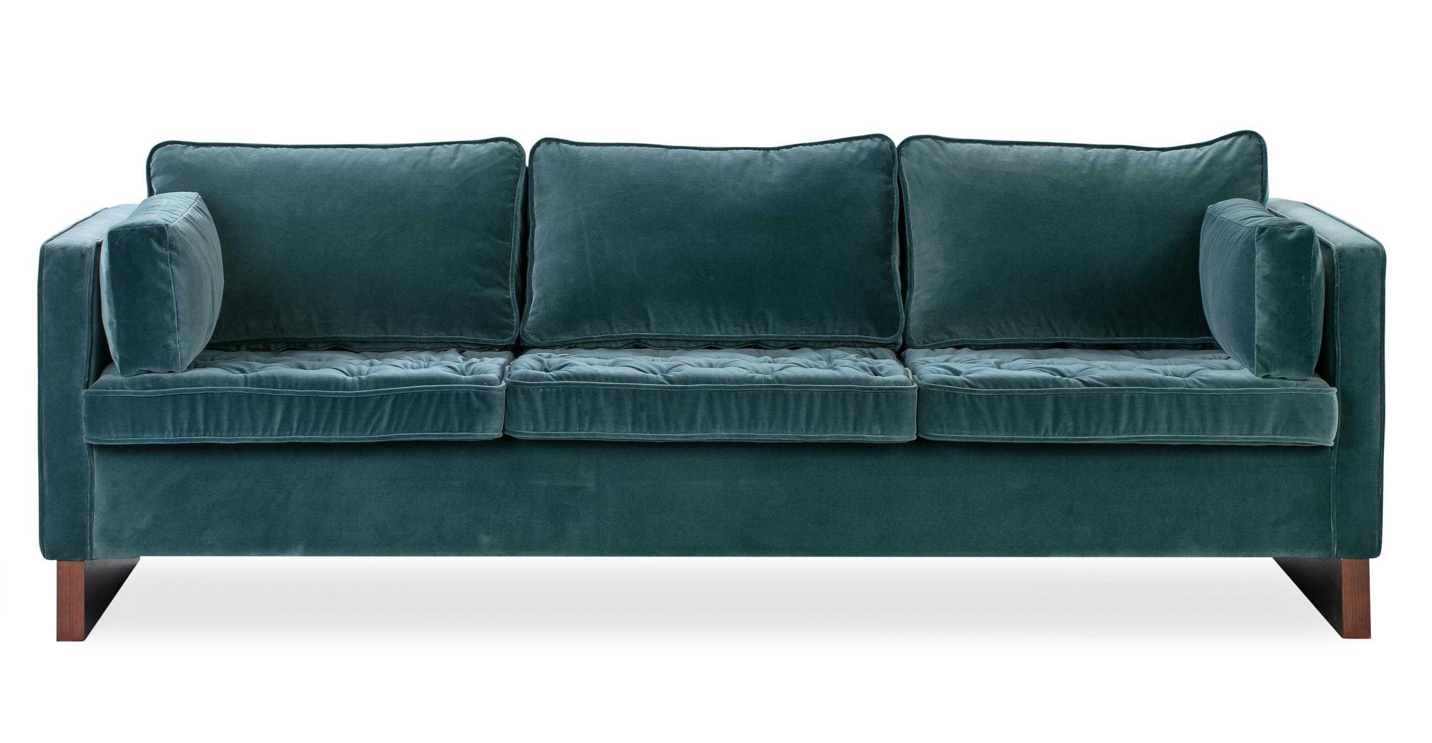 """Wexler 87"""" Fabric Sofa, Tranquil Velvet"""