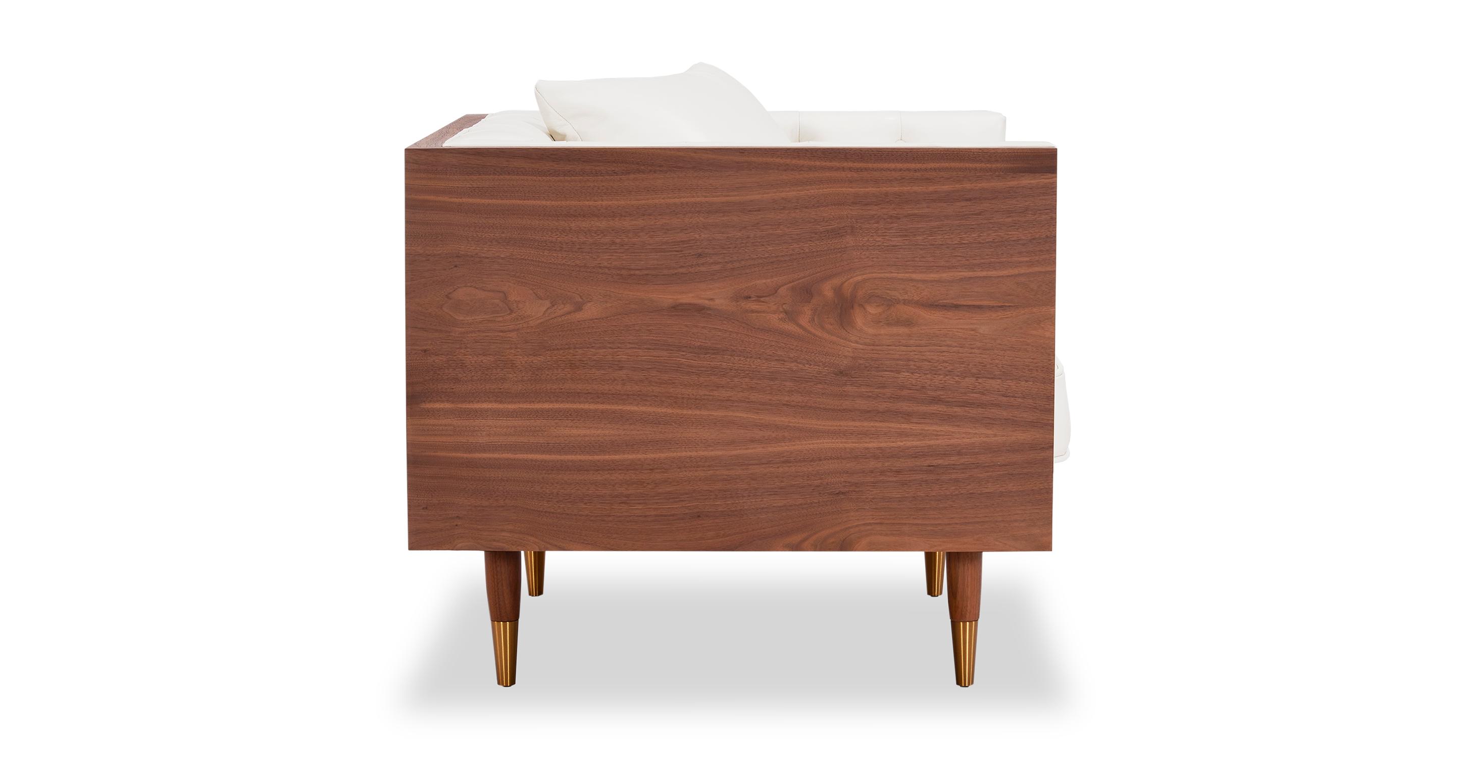 Woodrow Neo Chair, Walnut/White Aniline