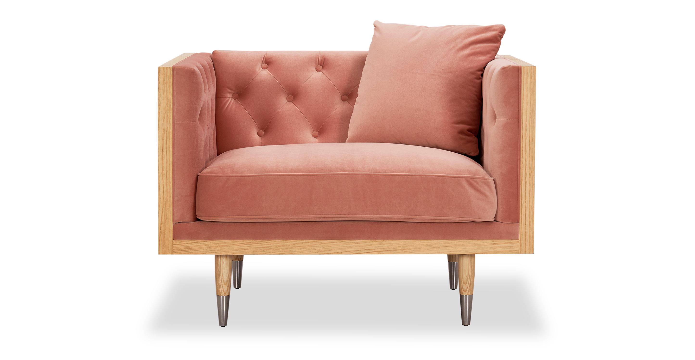 Woodrow Neo Chair, Ash/Blush Velvet