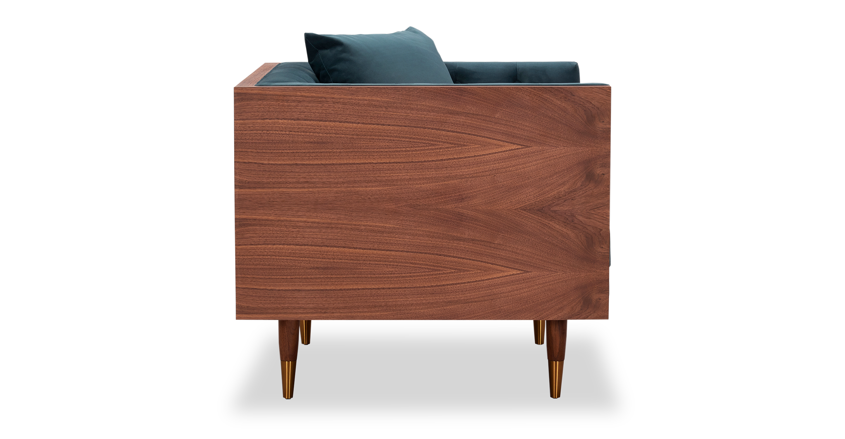 Woodrow Neo Chair, Walnut/Neptune Velvet