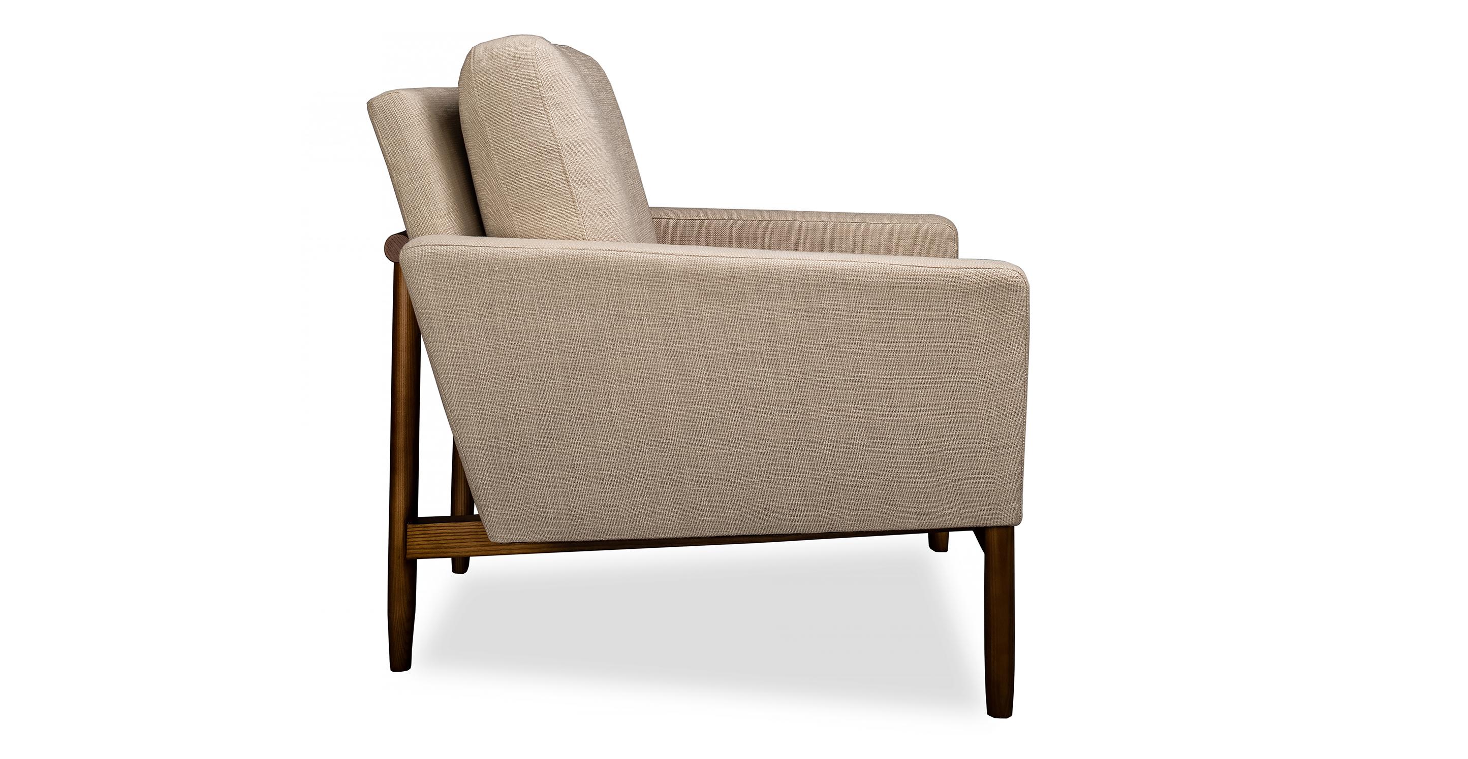 Stilt Danish Mod Chair, Urban Hemp/Walnut