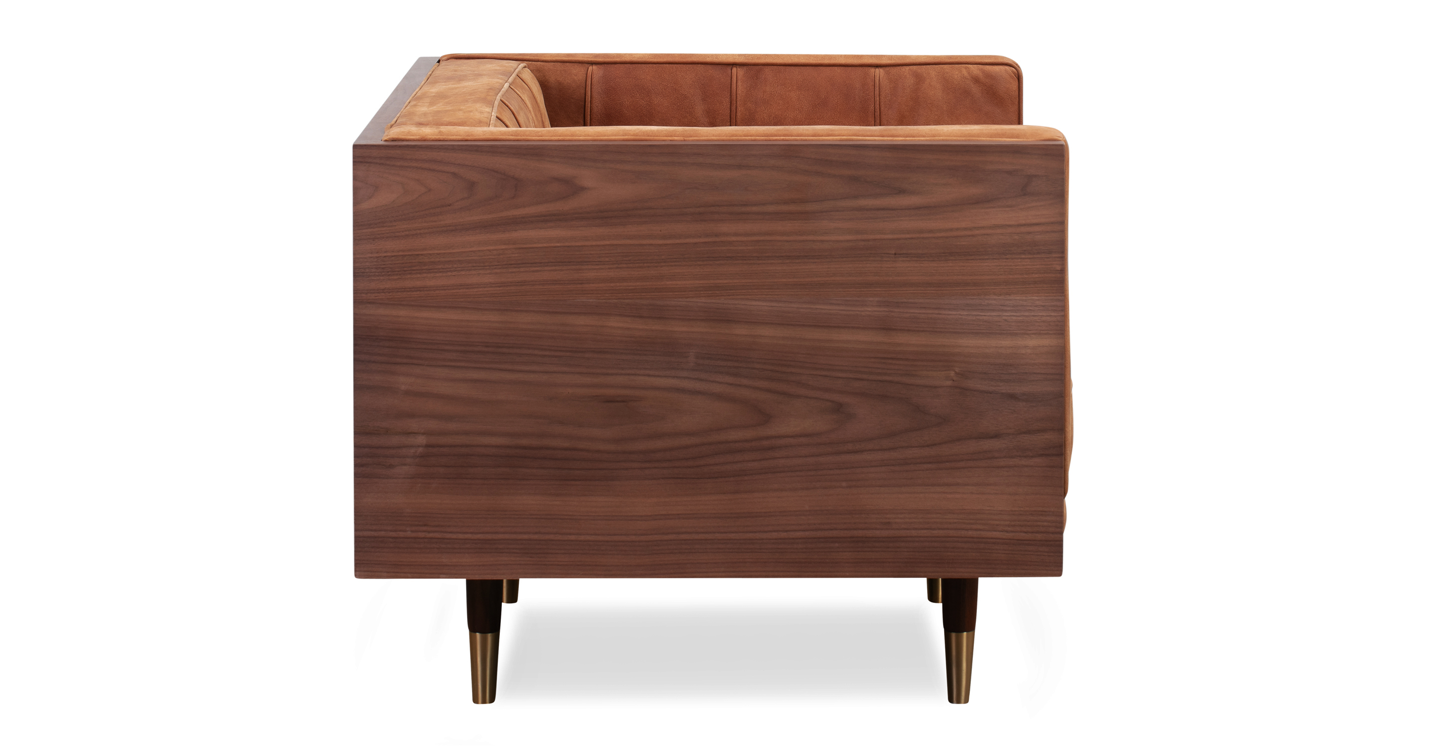 Woodrow Box Chair, Walnut/Cognac Full Grain Aniline
