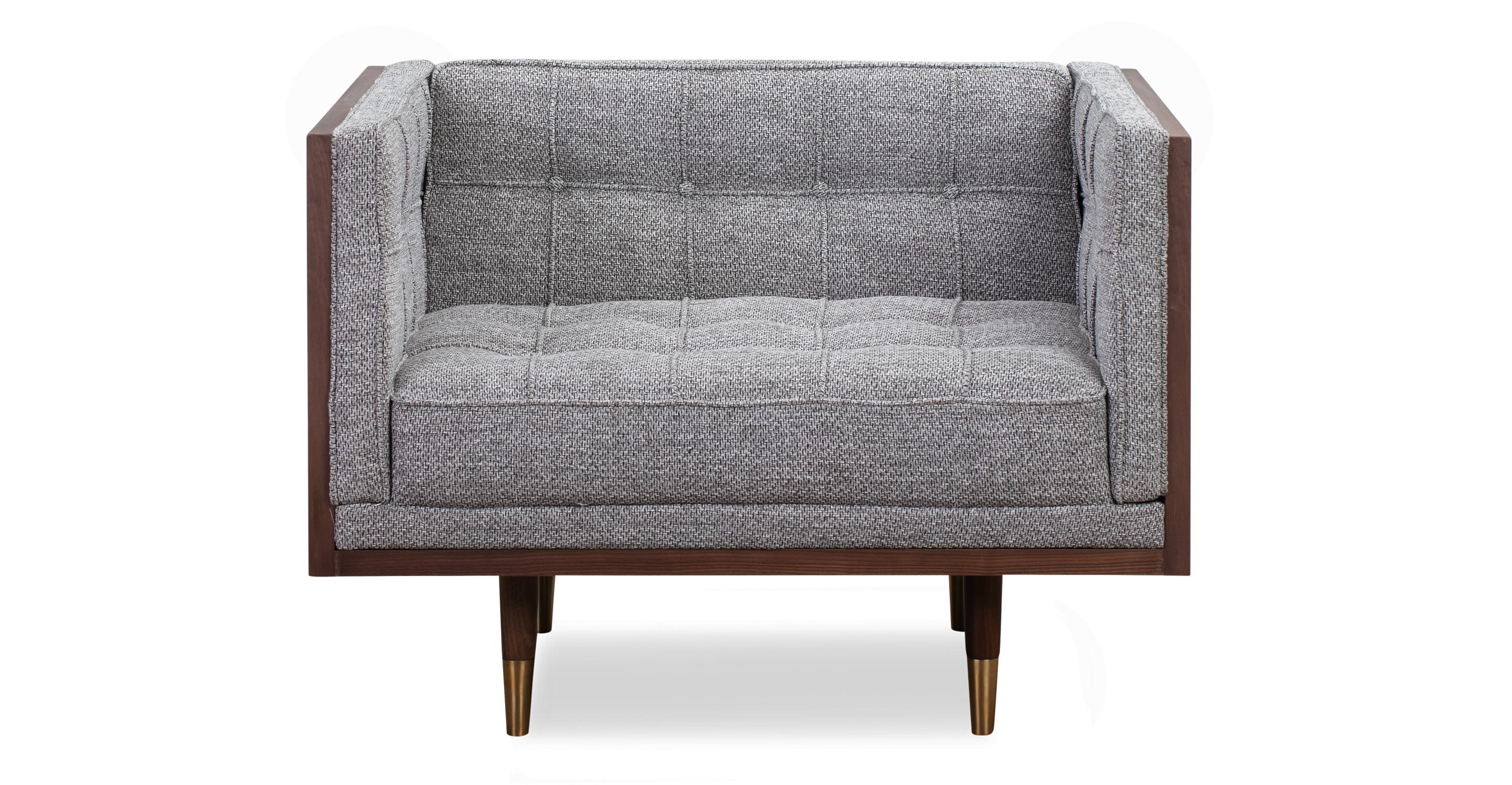 Woodrow Box Chair, Walnut/Eichler