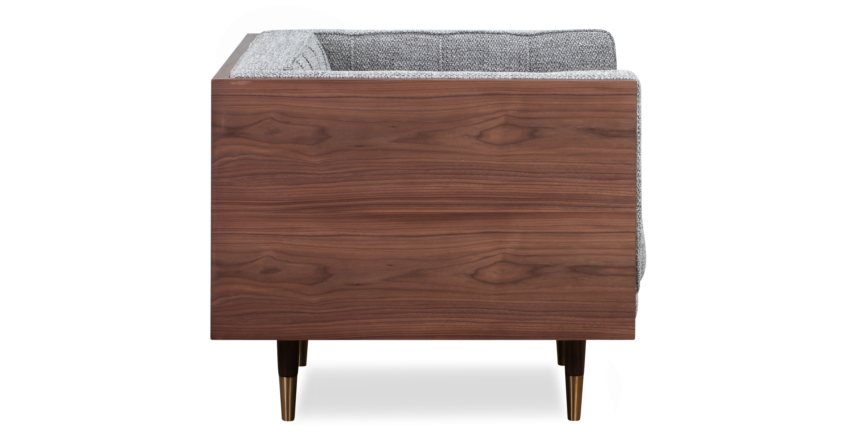 Woodrow Box Chair, Walnut/Eichler