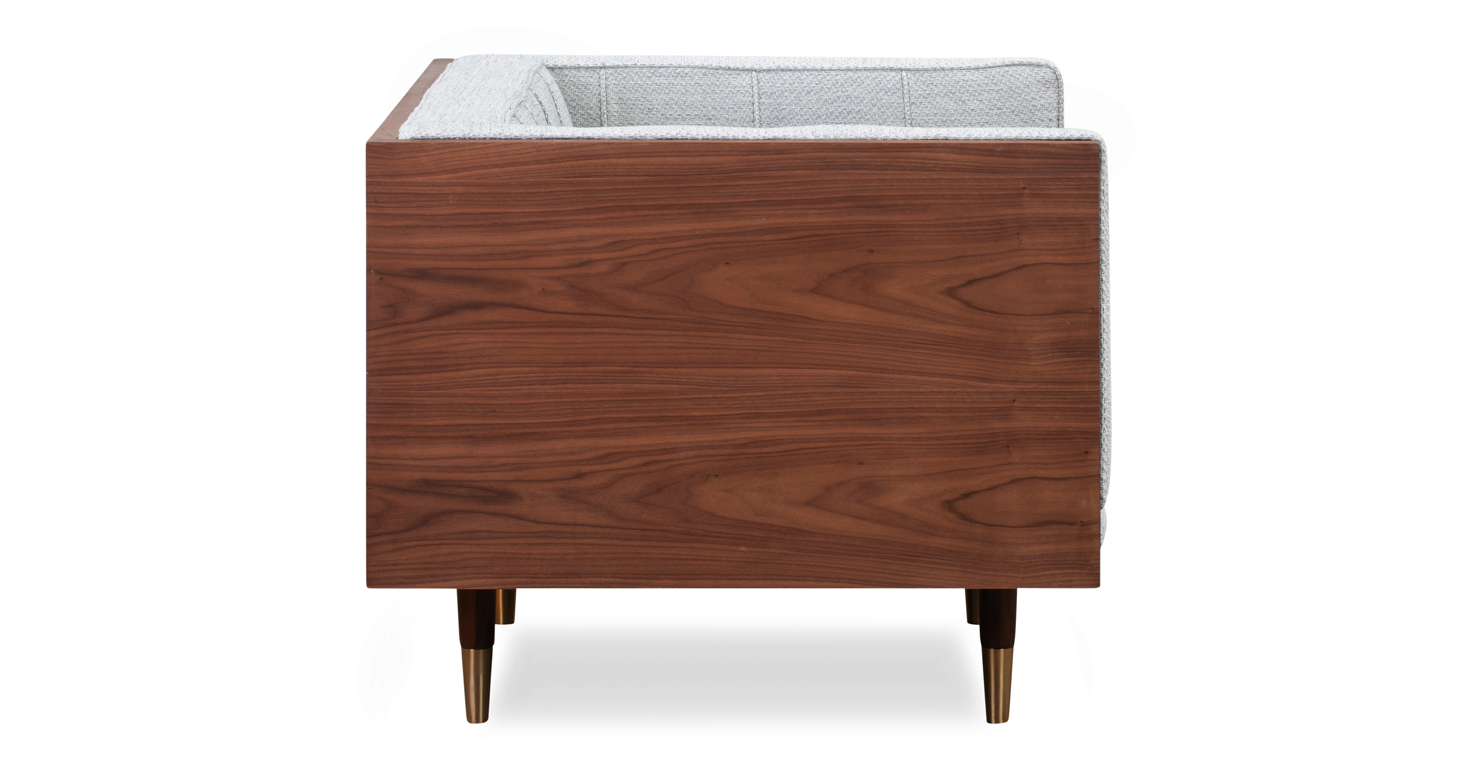Woodrow Box Chair, Walnut/Neutra
