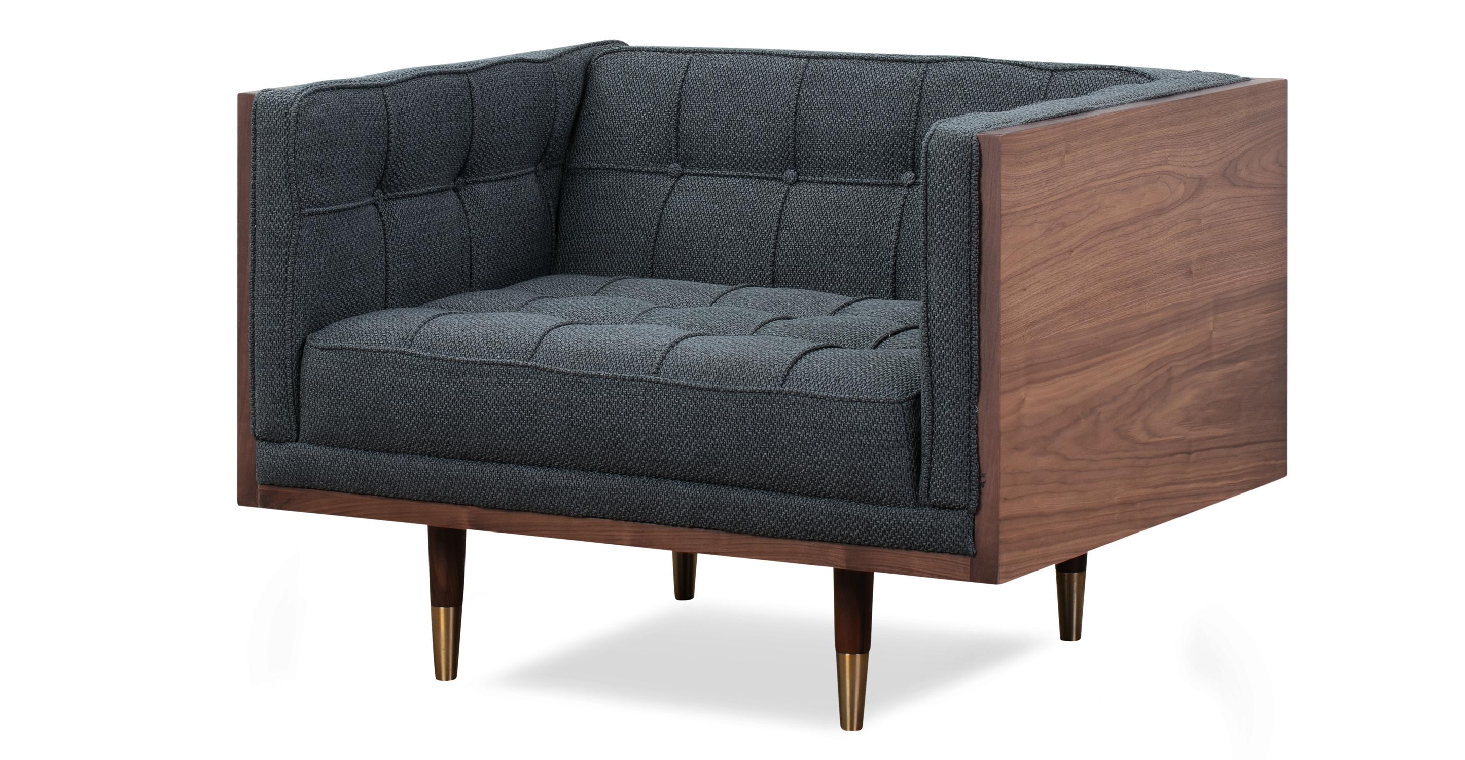 Woodrow Box Chair, Walnut/Niemeyer