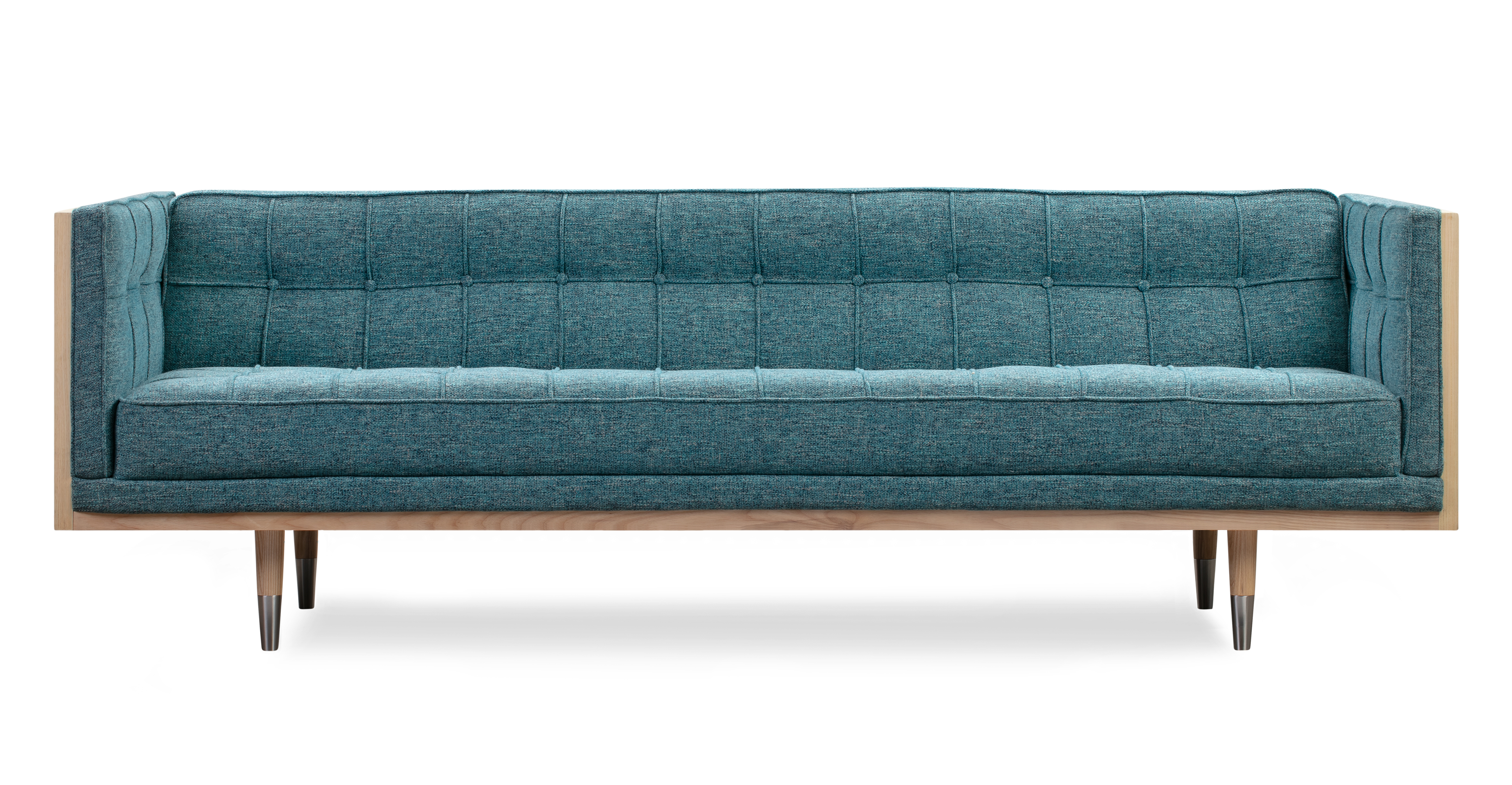 "Woodrow Box 87"" Fabric Sofa, Ash/Bliss"