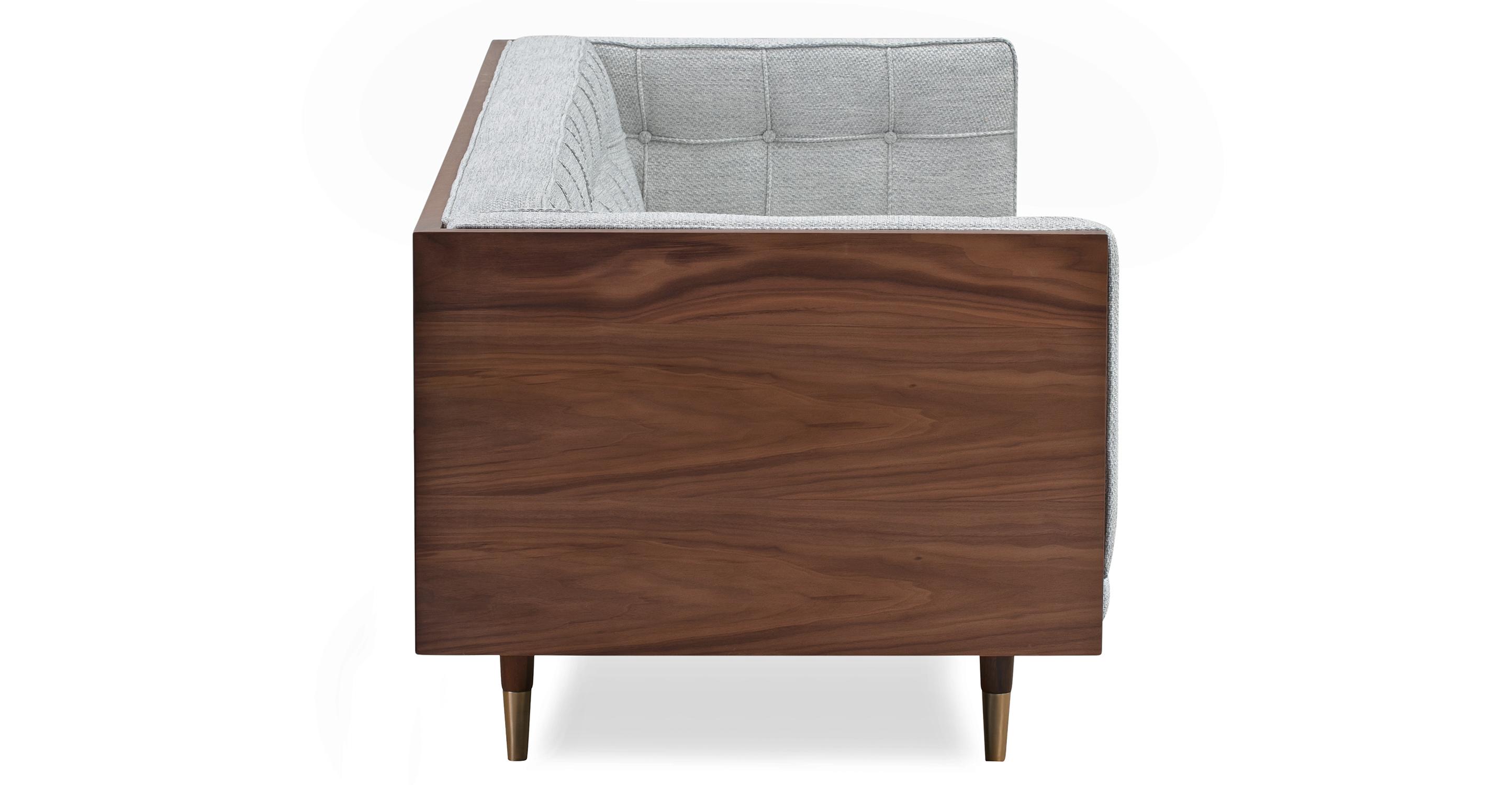 "Woodrow Box 87"" Fabric Sofa, Walnut/Neutra"