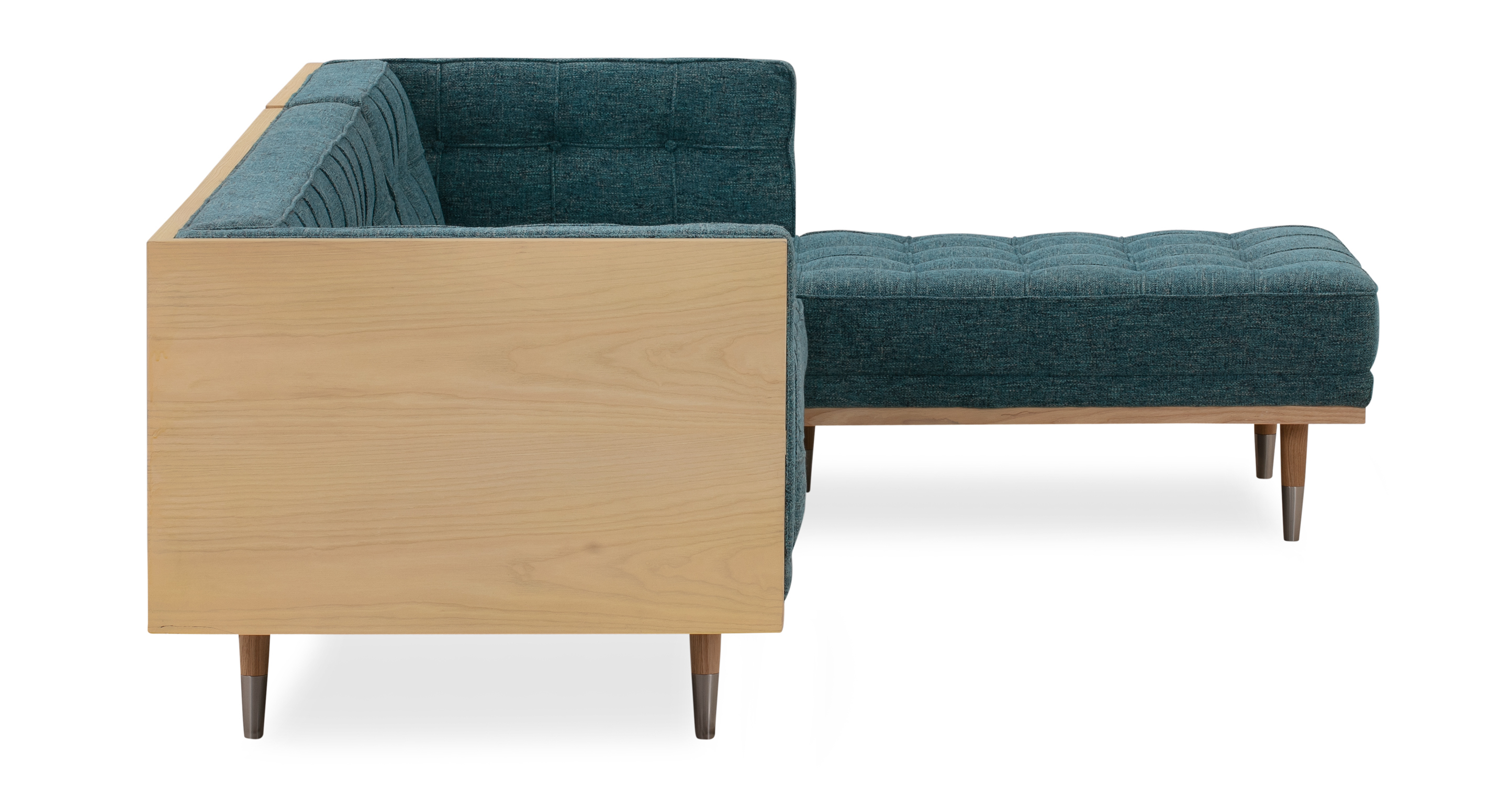 Woodrow Box Sofa Sectional Right, Ash/Bliss