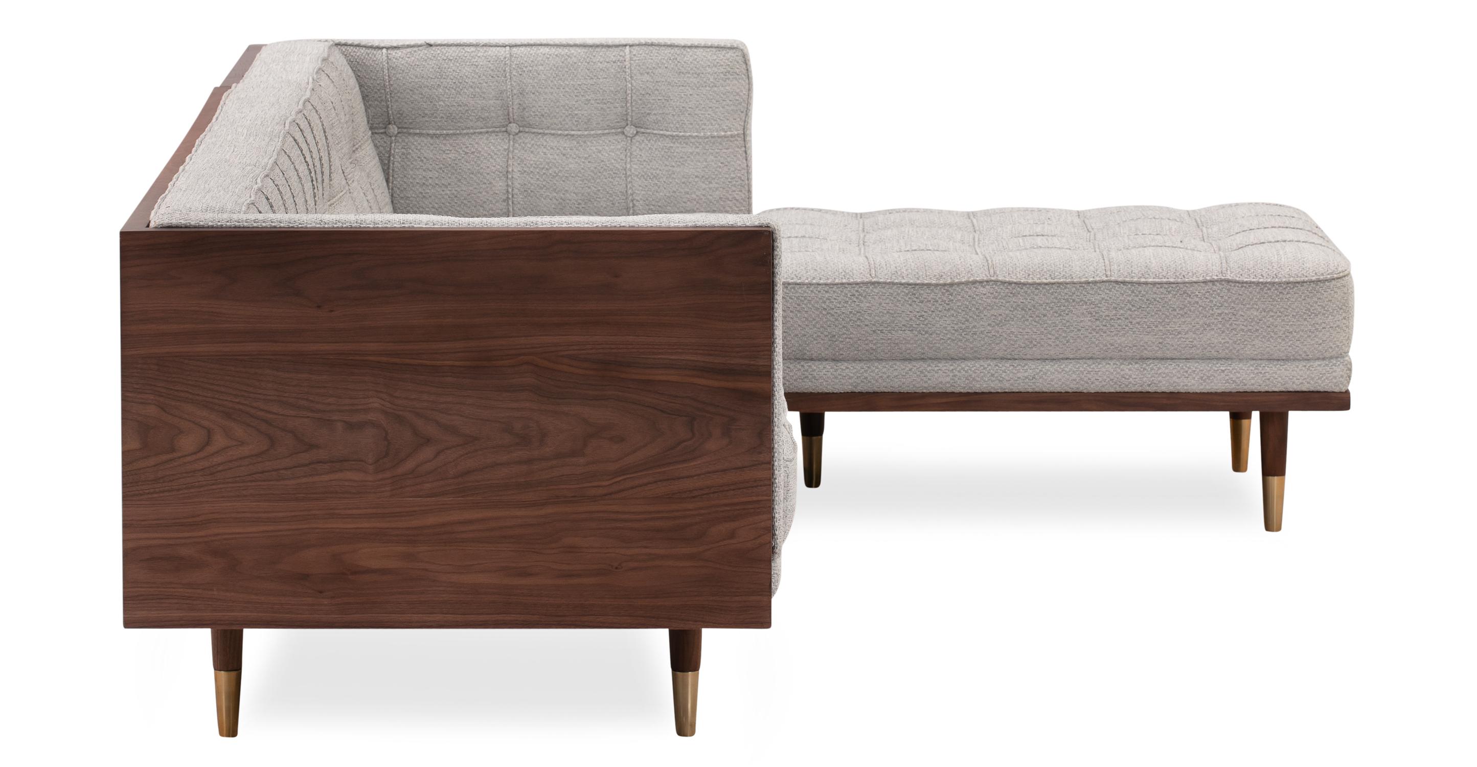 Woodrow Box Sofa Sectional Right, Walnut/Neutra