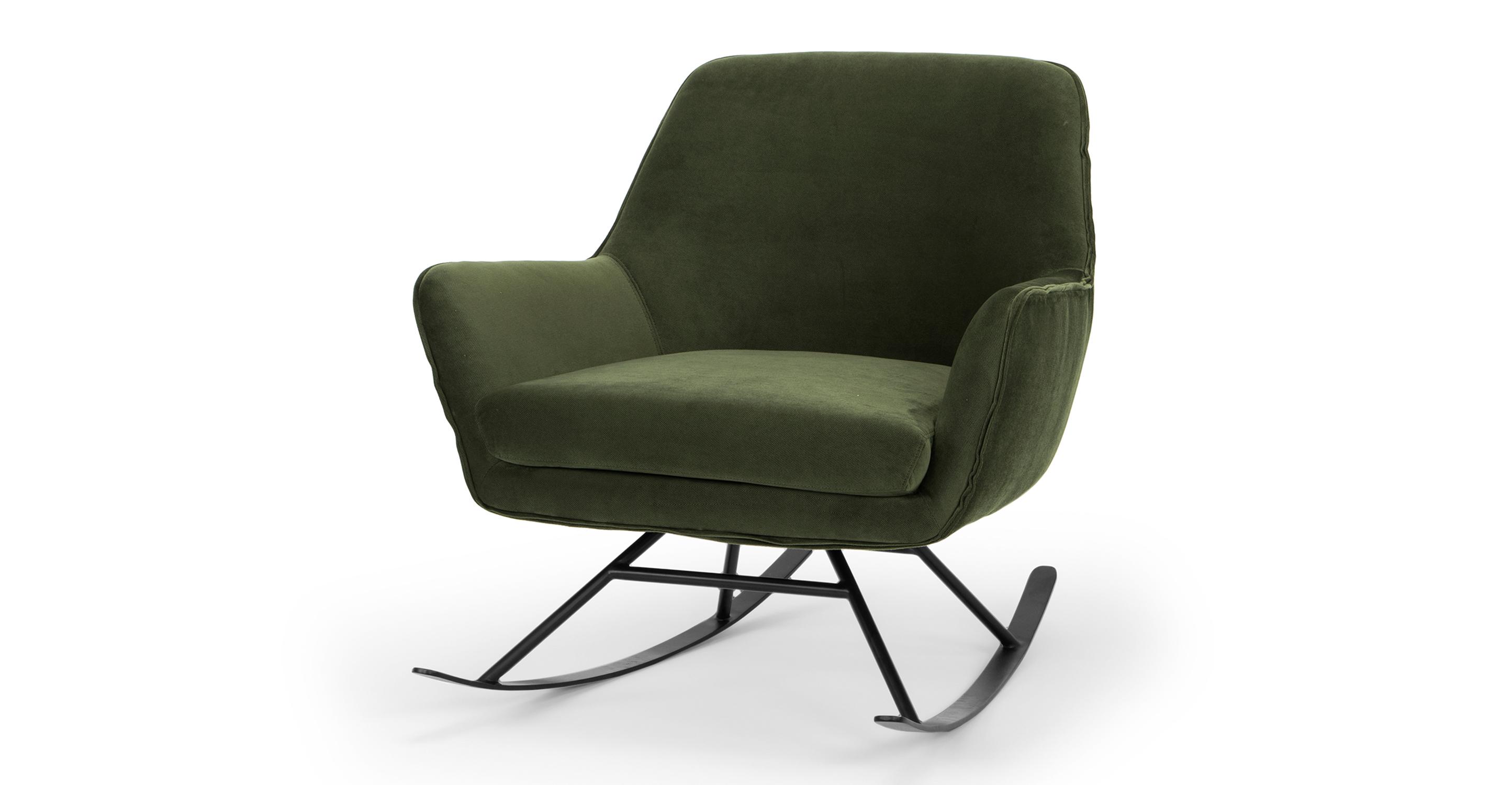 "Alpine 32"" Fabric Rocking Chair, Hunter Green"