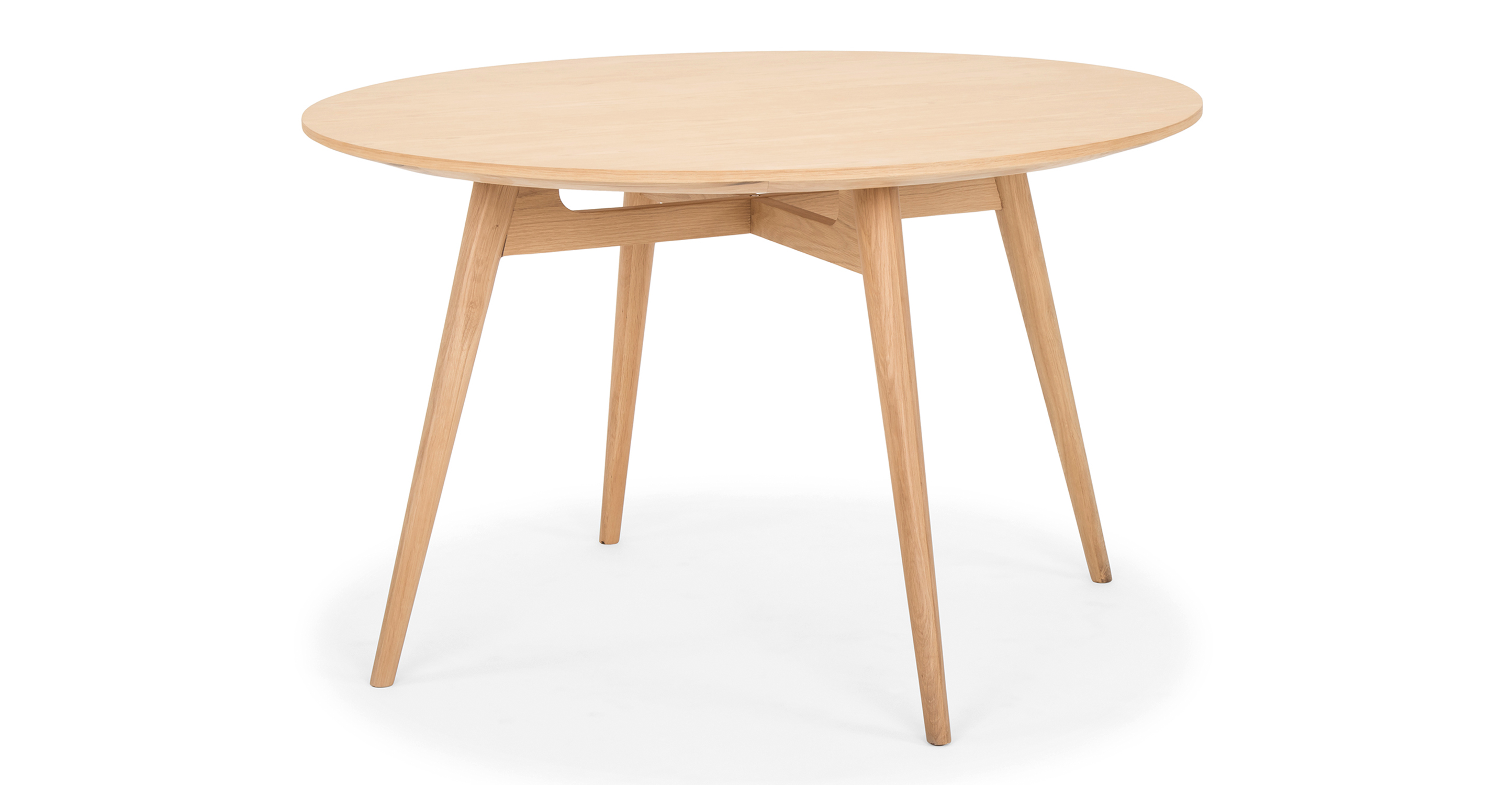 """Asher 47"""" Dining Table, Natural Oak"""