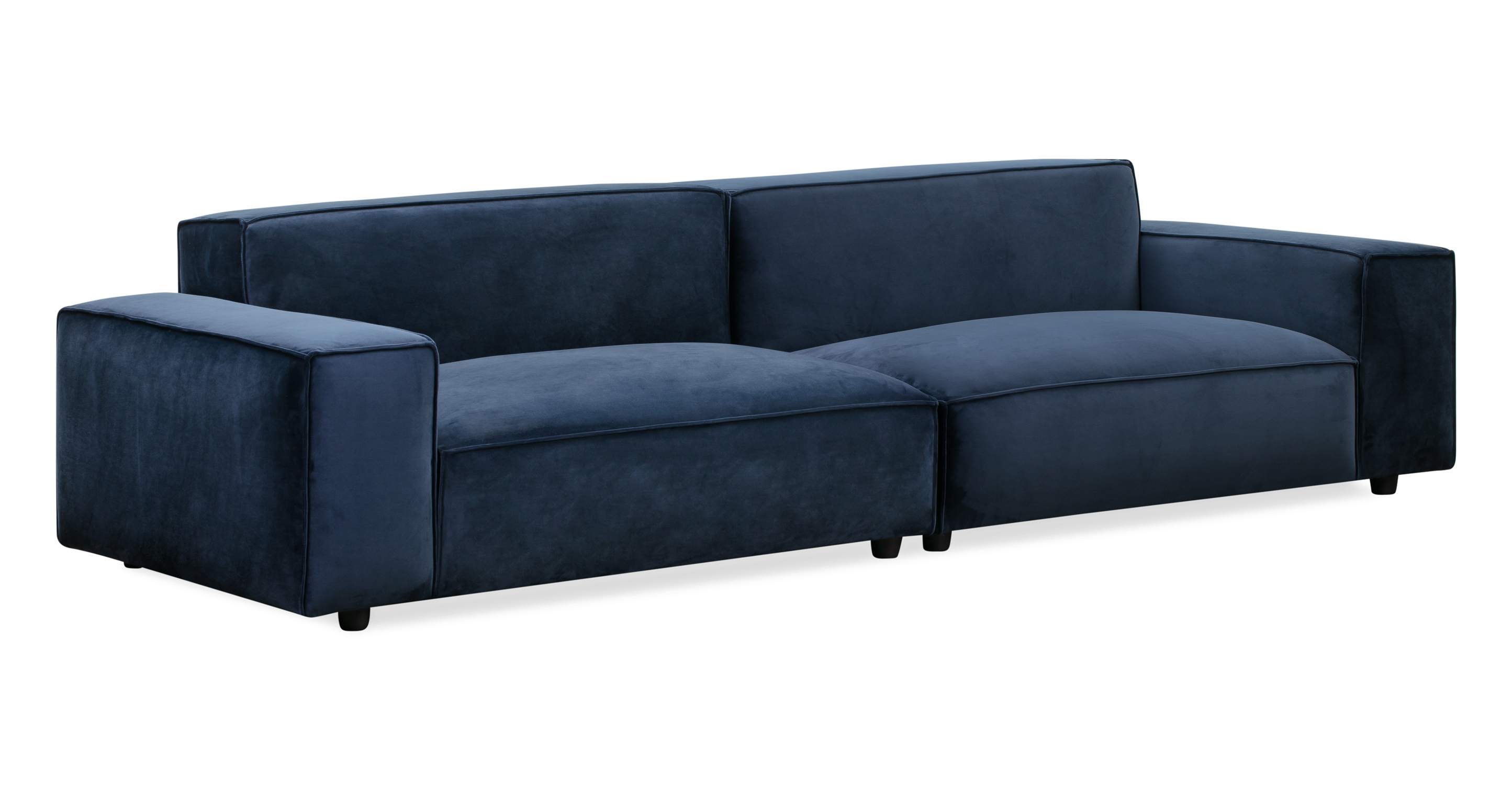 "Bondi 104"" 2pc. Modular Sofa, Royal Blue"