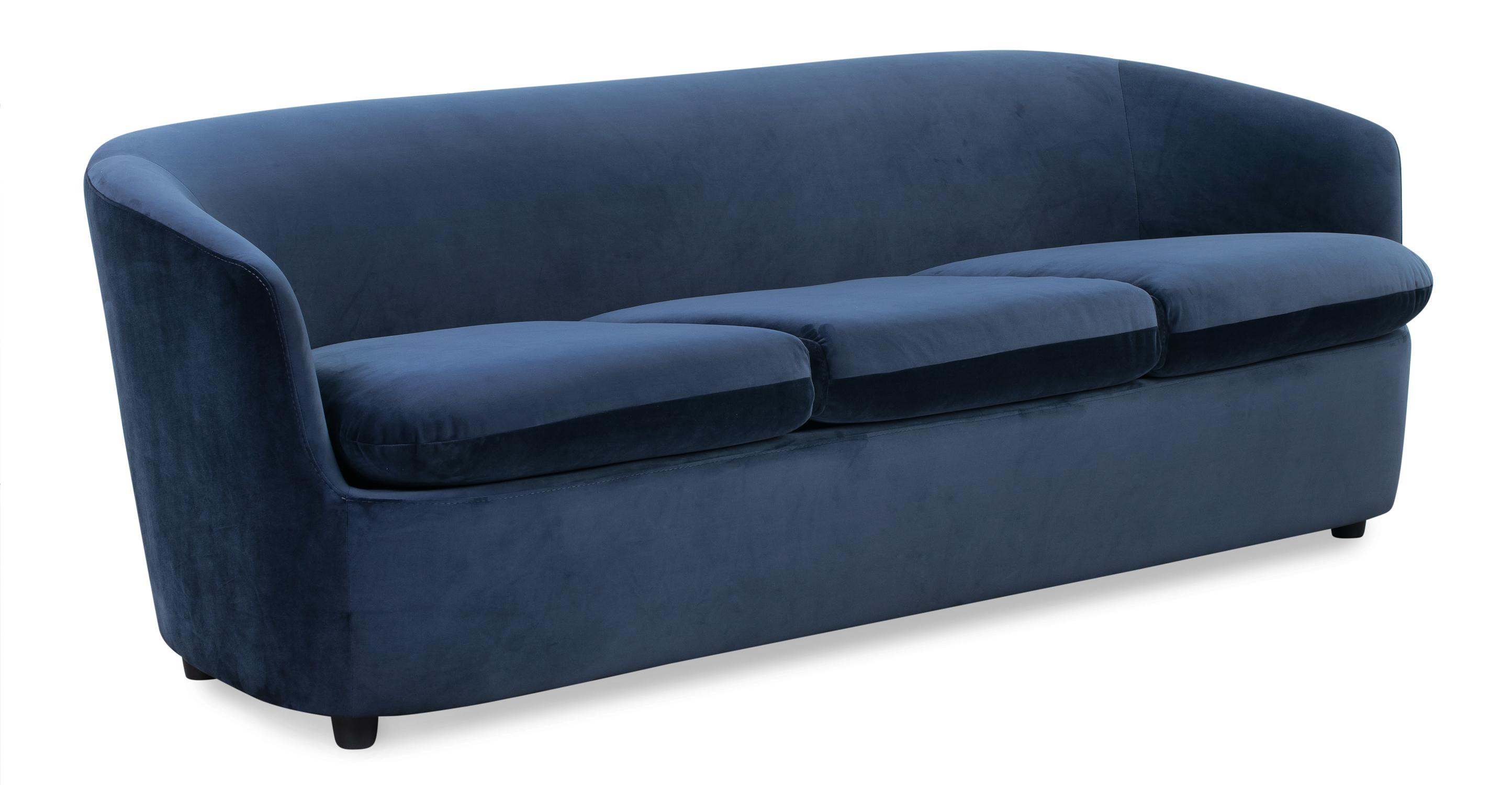 """Vogue 83"""" Fabric Sofa, Royal Blue Velvet"""