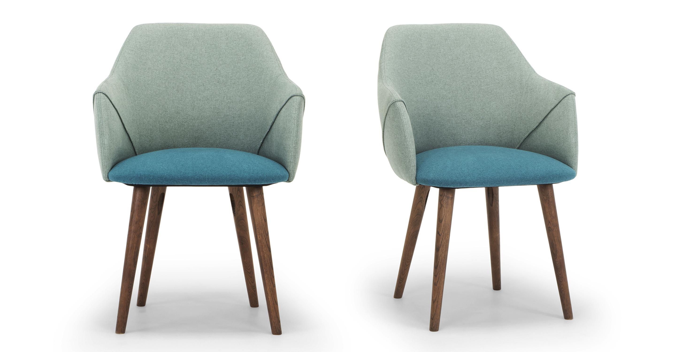 "Berki 23"" 2-pc. Dining Chair, Adriatic & Scuba"