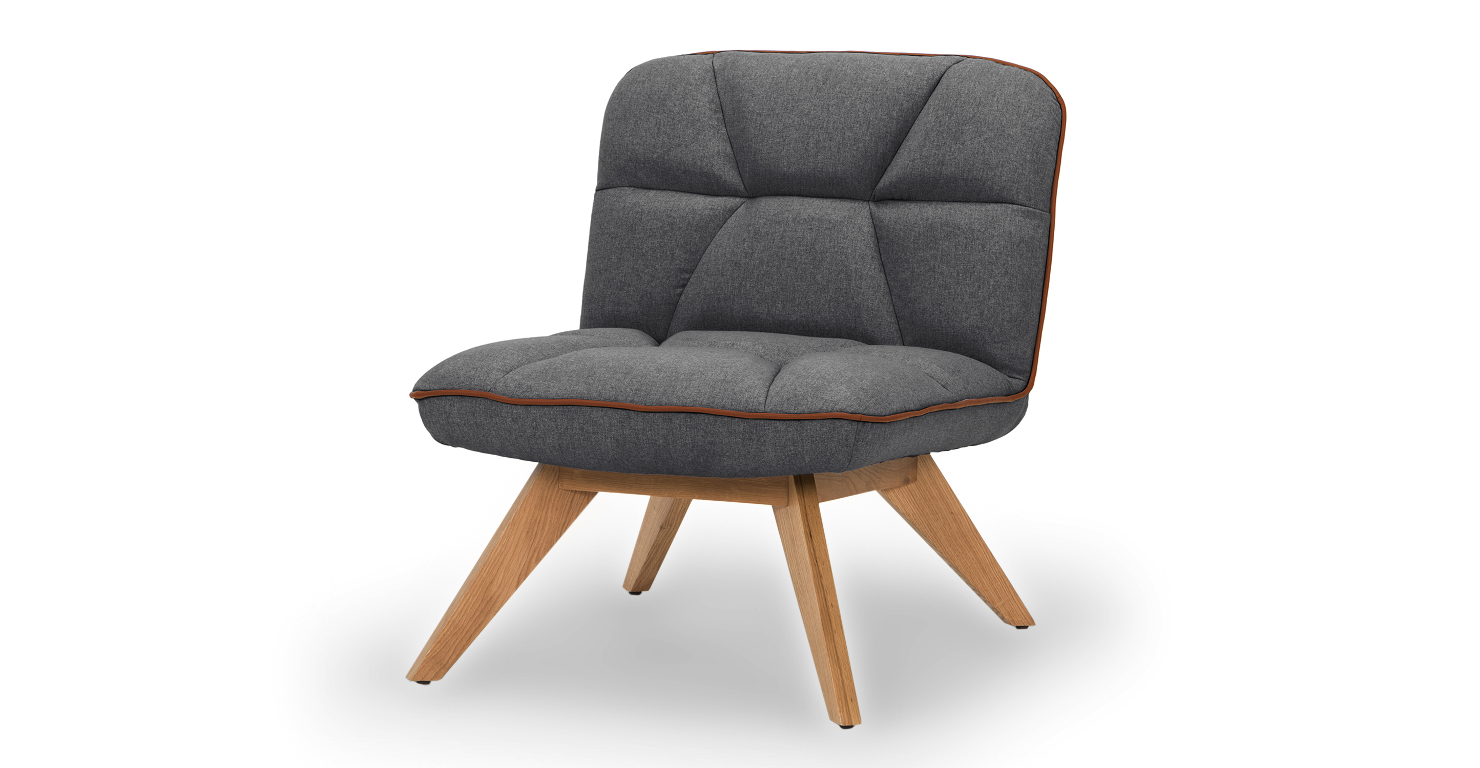 "Buckie 26"" Fabric Chair, Nickel"