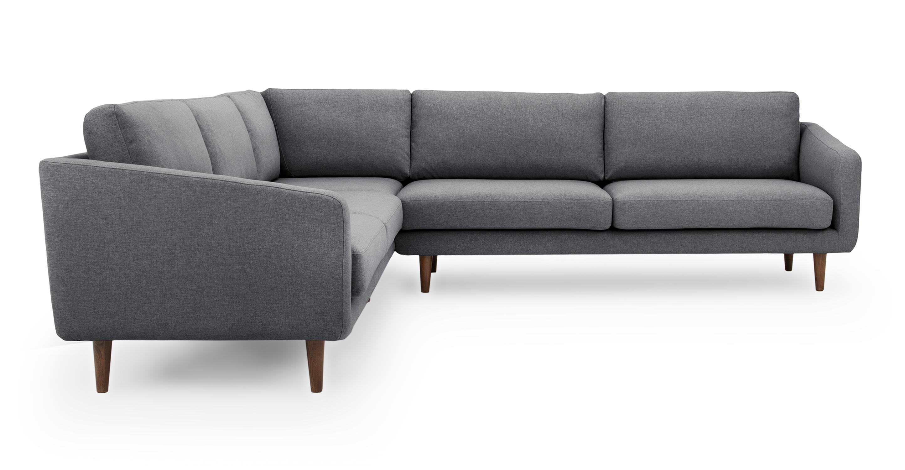 "Burnham 109"" Fabric Sectional, Nickel"