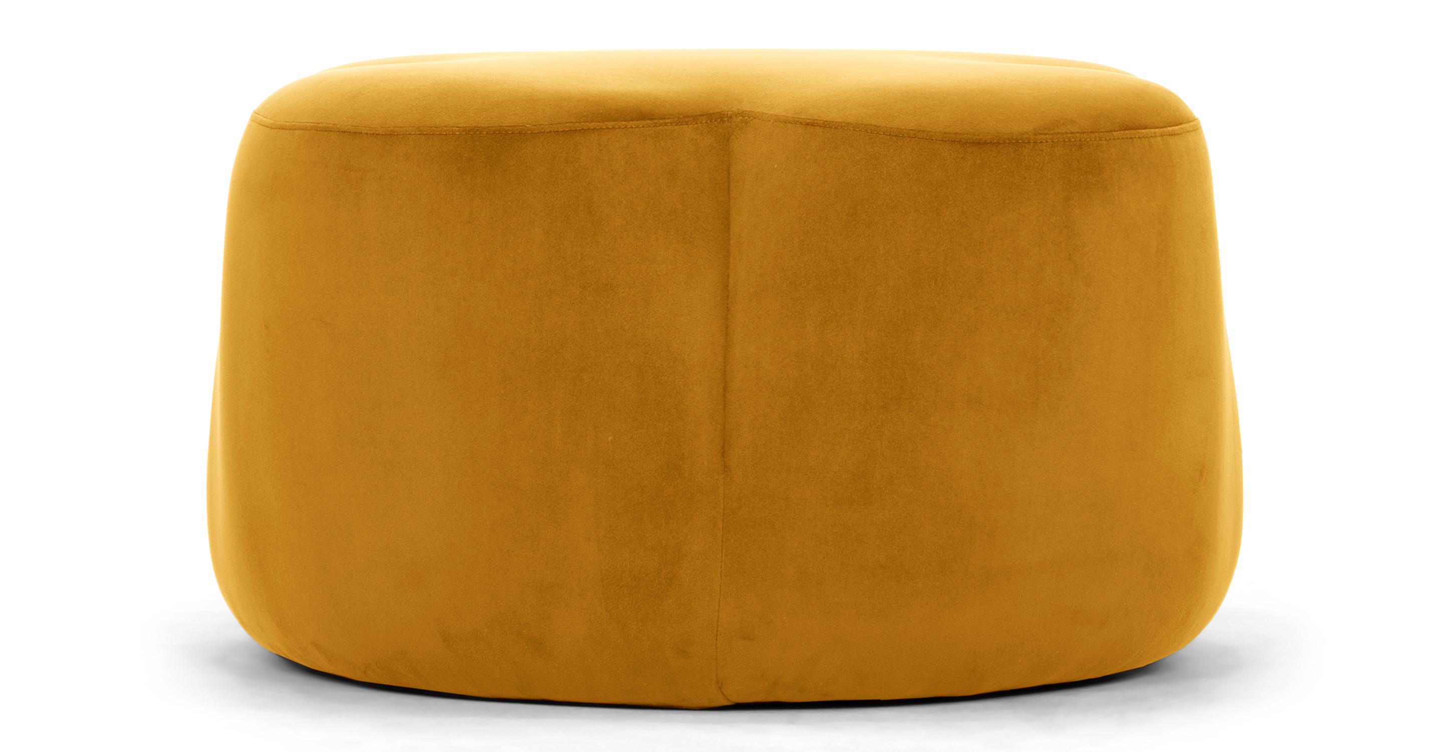 """Buttercup 30"""" Ottoman, Dazzle Velvet"""